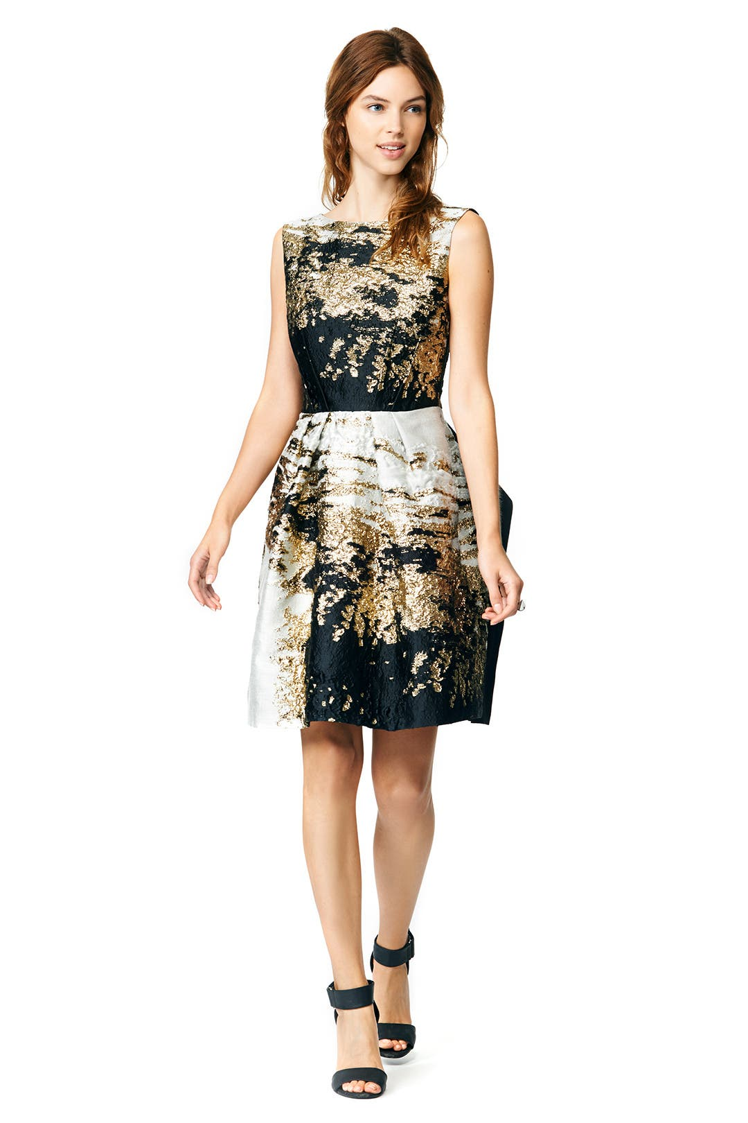 Brushed With Gold Dress by Alberta Ferretti