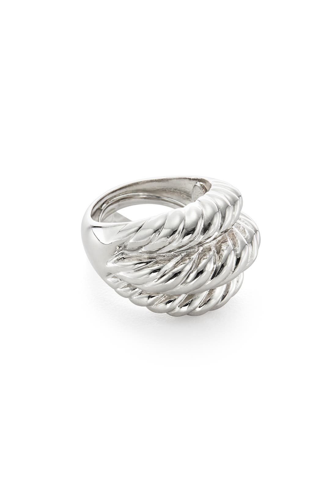 Sterling Rope Ring by Kenneth Jay Lane