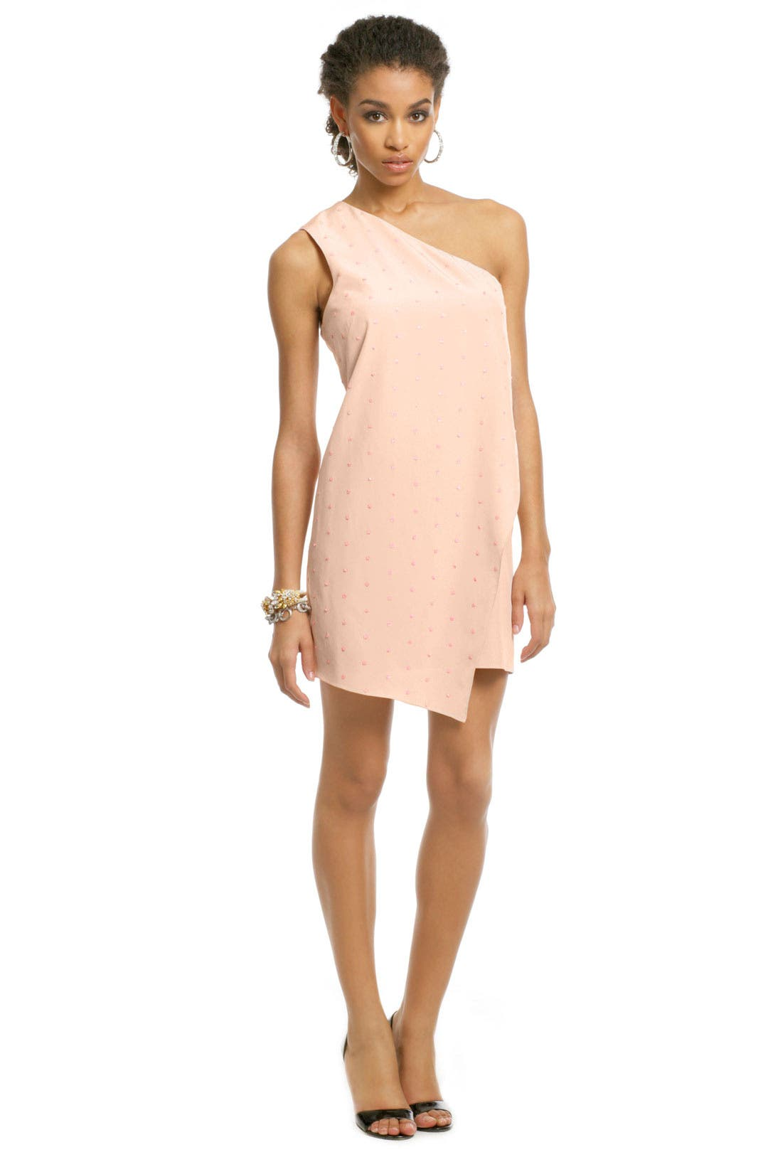 Blush Sequin Sprinkle Dress by Tibi
