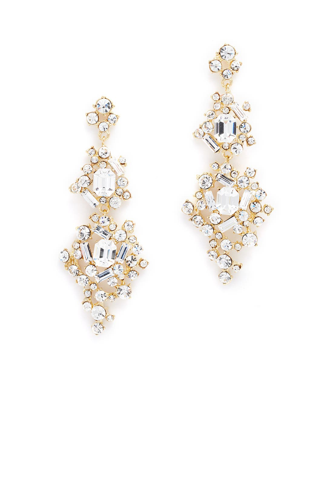 Erica Crystal Statement Earrings By Rj Graziano For $20  Rent The Runway