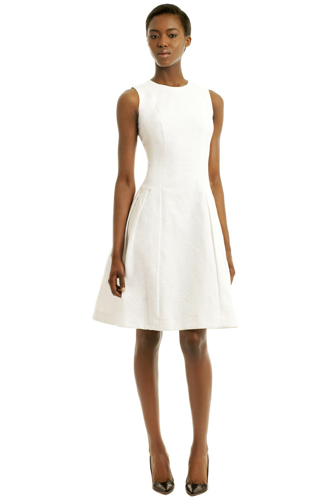 White Halo Dress by Carmen Marc Valvo