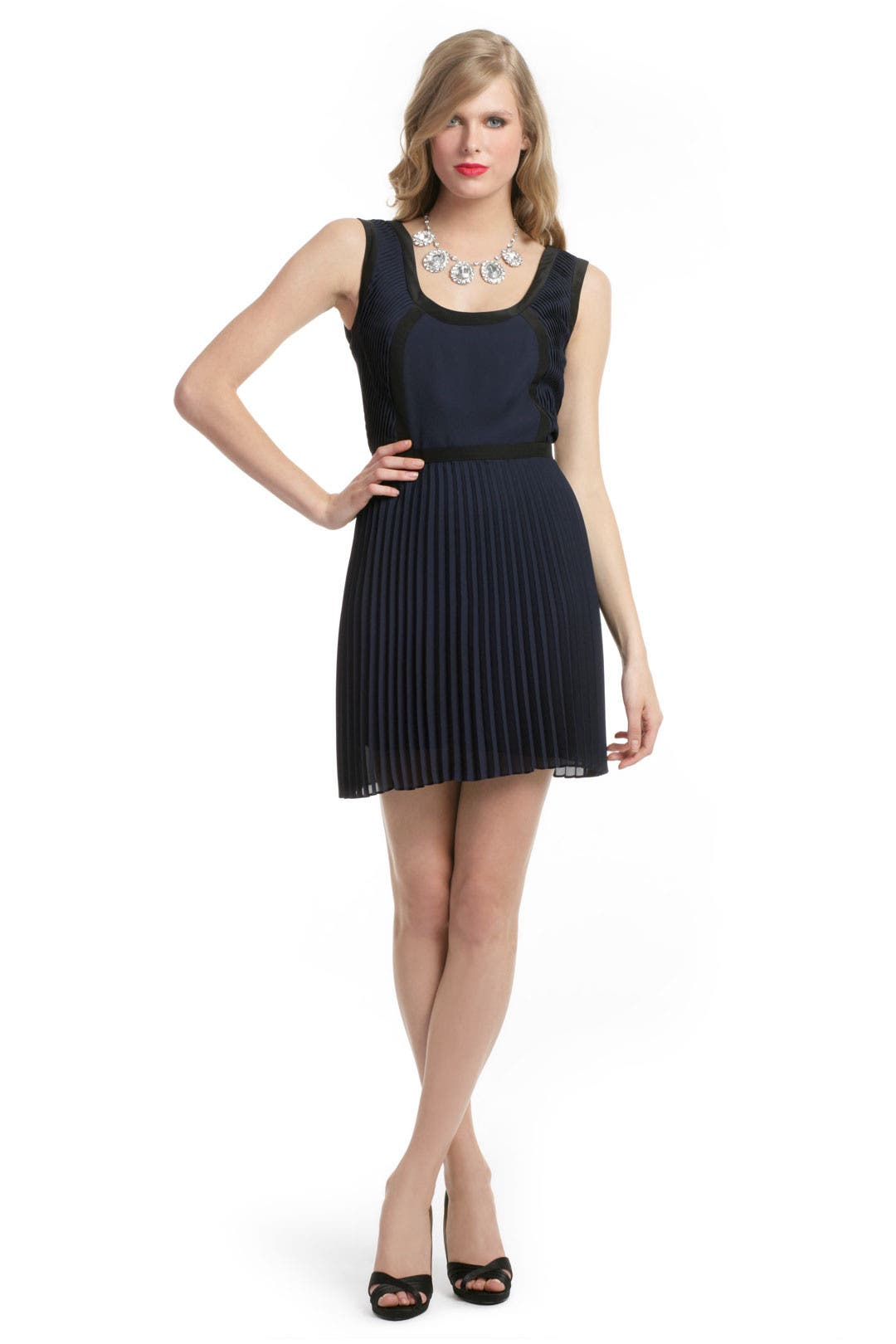 Eclipse Scoop Pleated Dress by Jay Godfrey