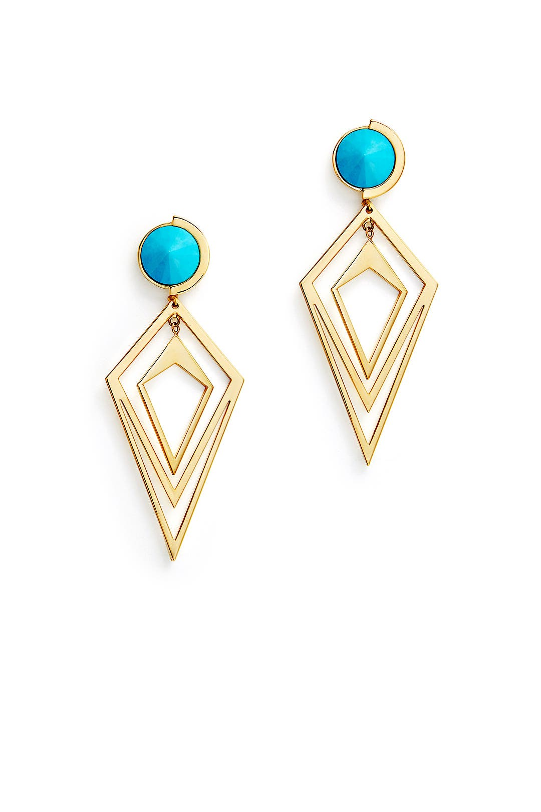 Blue Pointilist Orbita Earrings by Sarah Magid