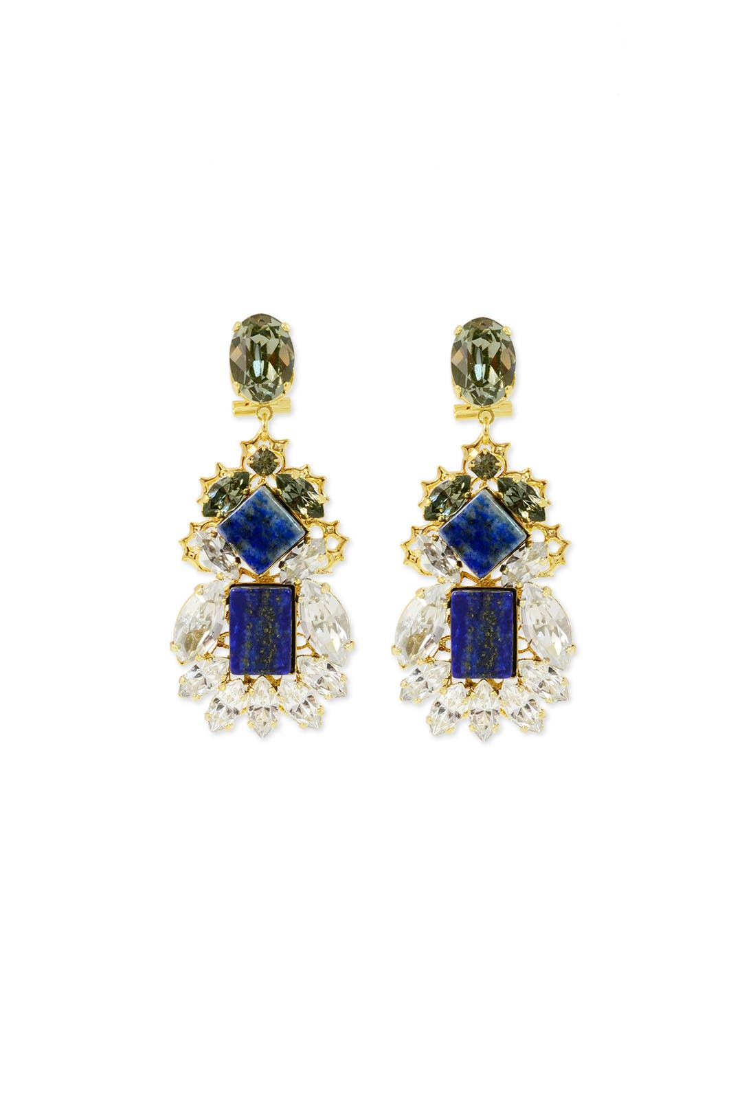 Blue Jasmine Earrings by Anton Heunis