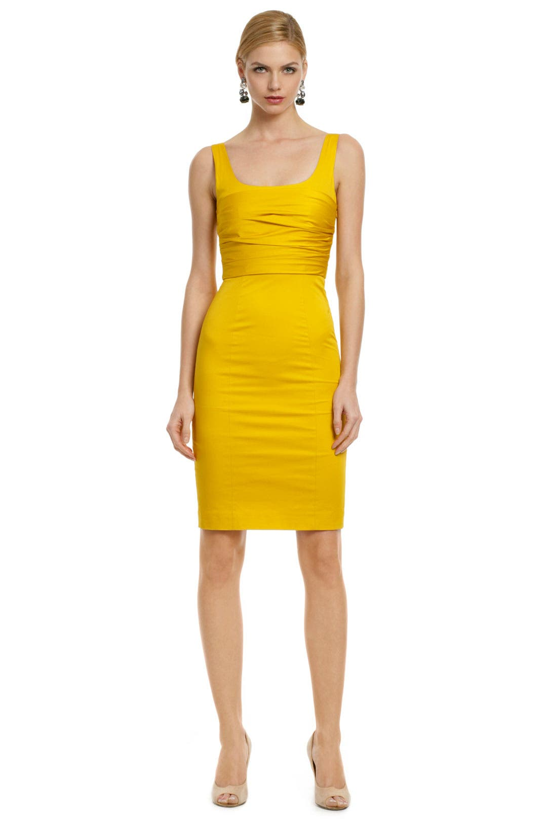 Yellow Rose Bodice Dress by Moschino Cheap And Chic for $30 | Rent ...
