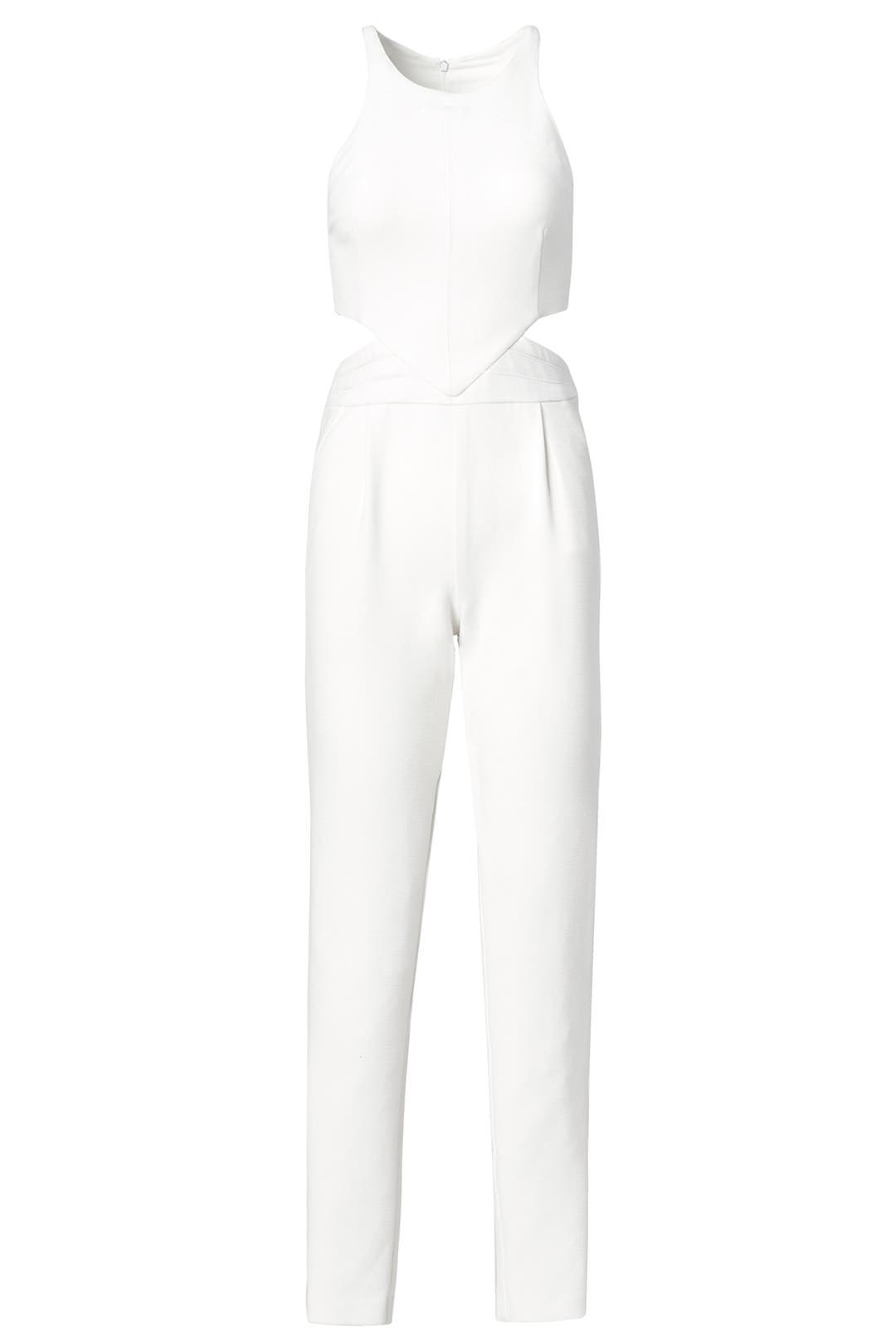 Silver pearl marisol white lace 1 - Bright Side Jumpsuit By Hunter Bell