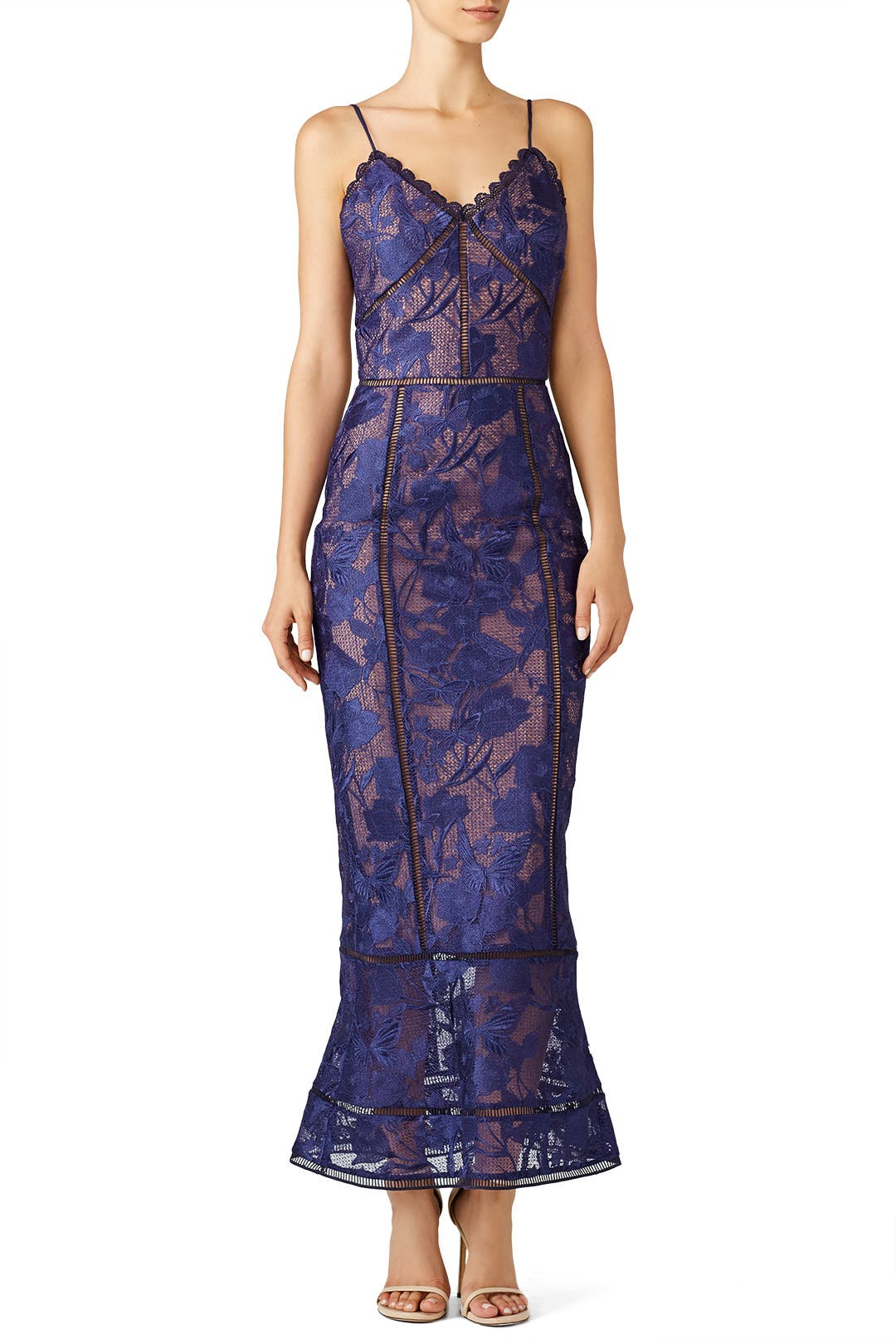 Purple Lace Dress by Marchesa Notte for $120 - $130 | Rent the Runway
