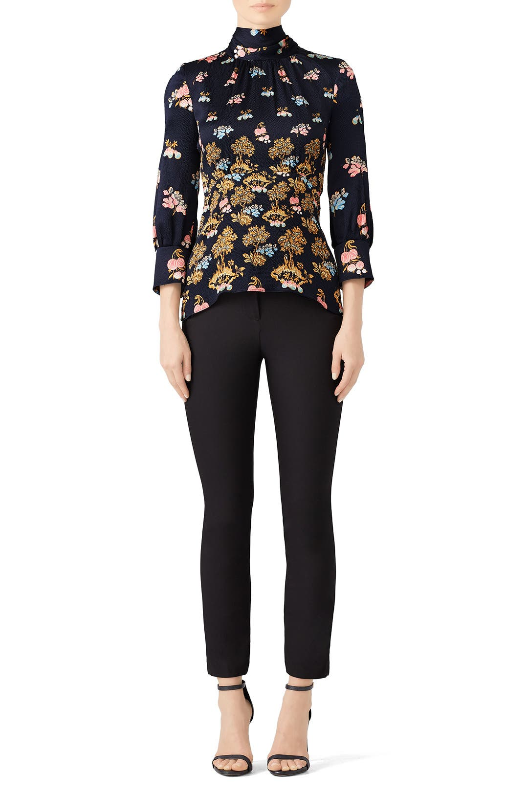 0e7594952cb9aa Silk High Neck Blouse by Peter Pilotto for  170
