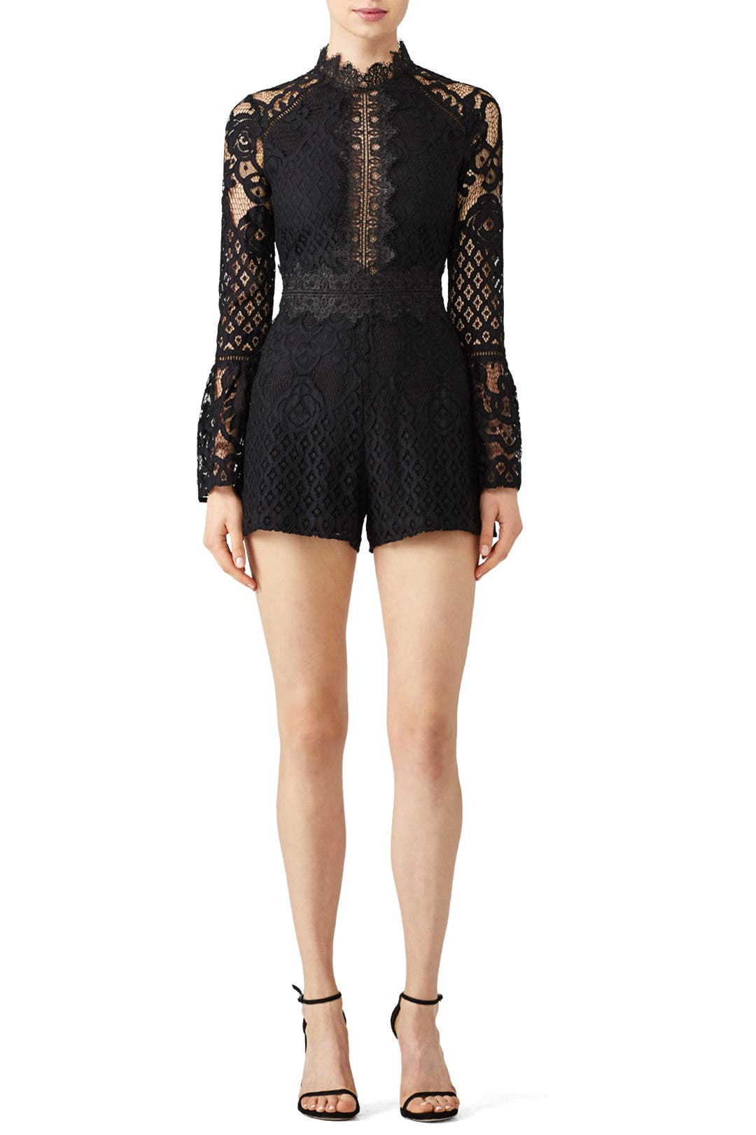 6dffcaec7cd Lena Woven Lace Romper by Adelyn Rae for  30