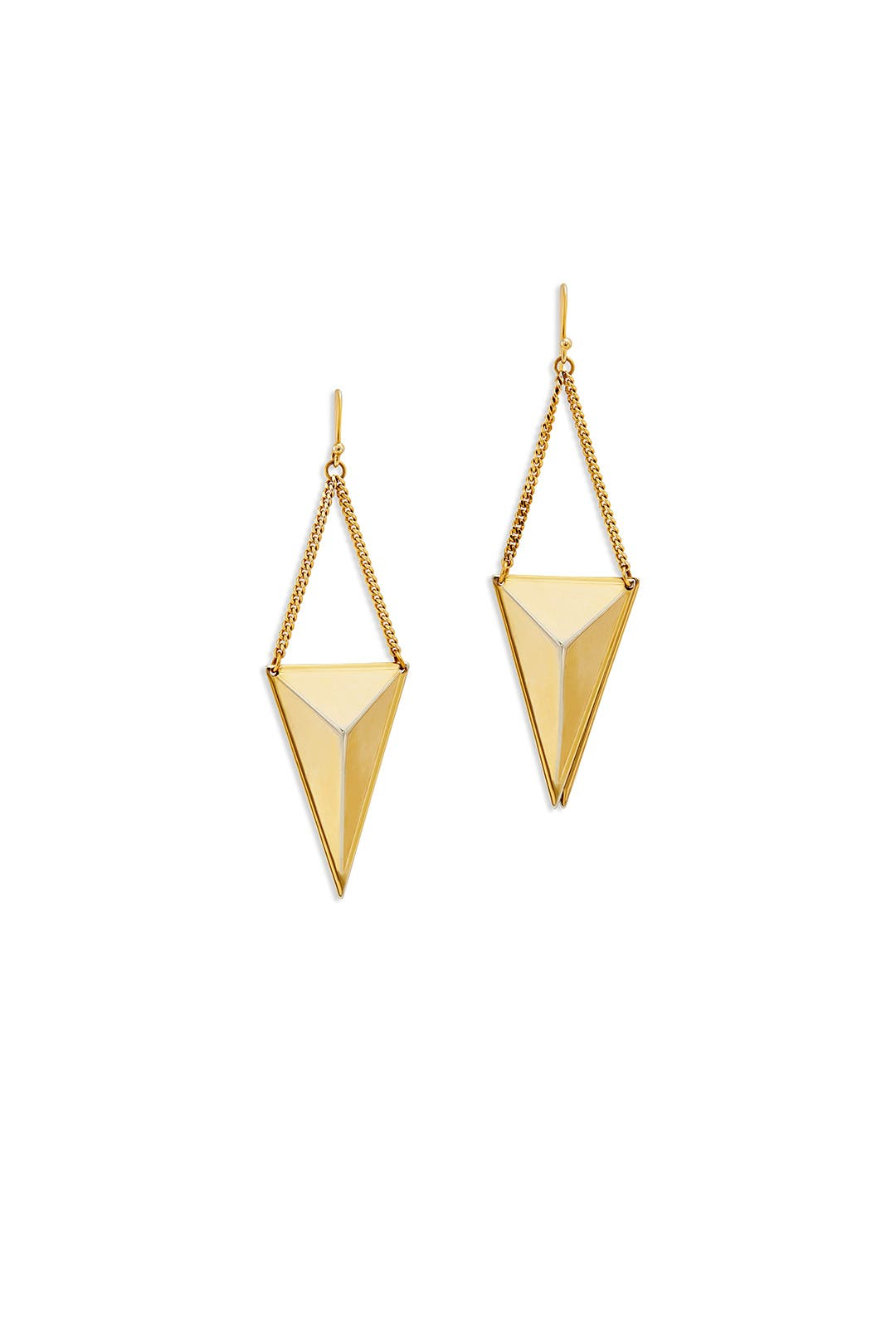 Gold Tetra Chain Earring by AV Max