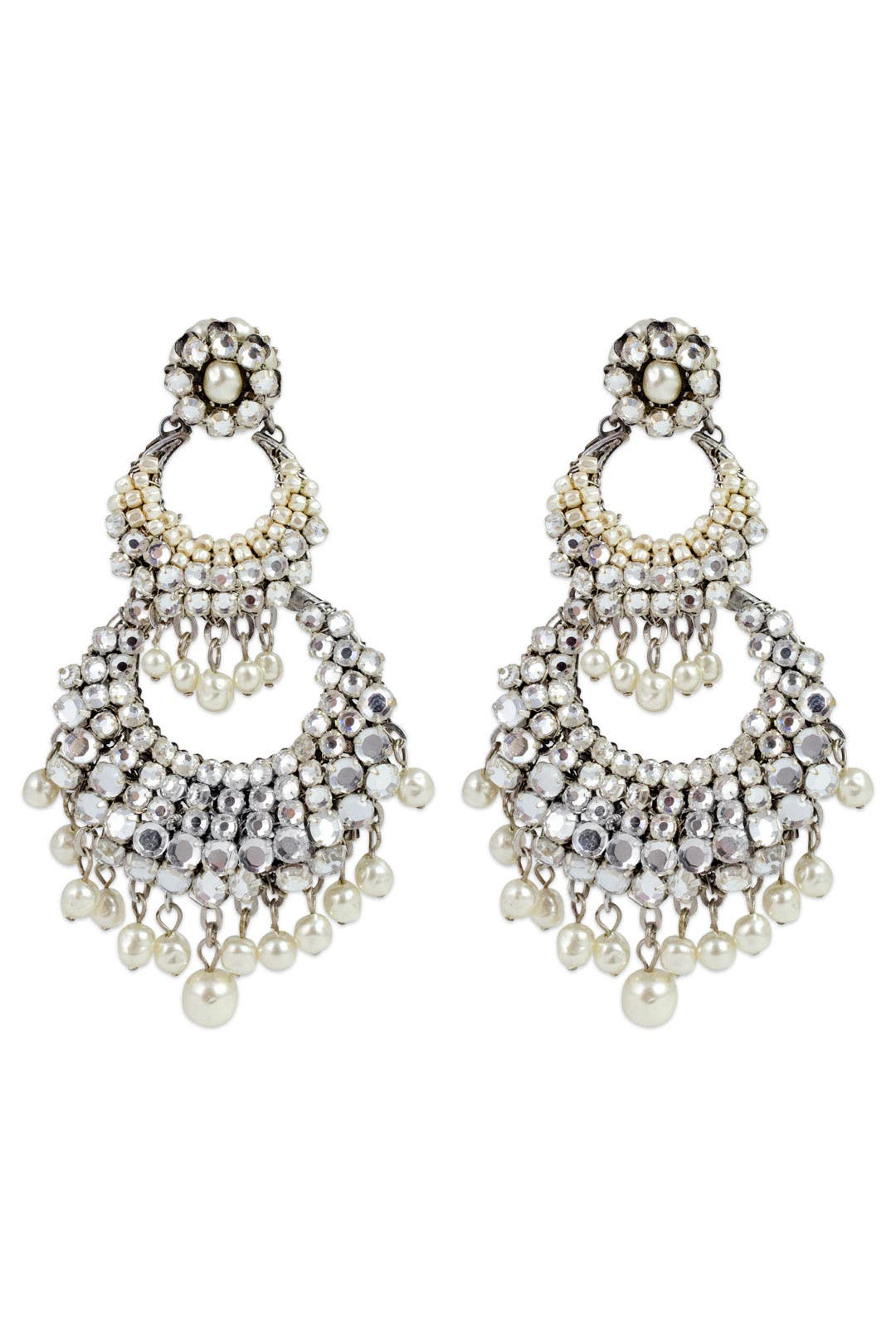 Down the Aisle Earrings by Miriam Haskell