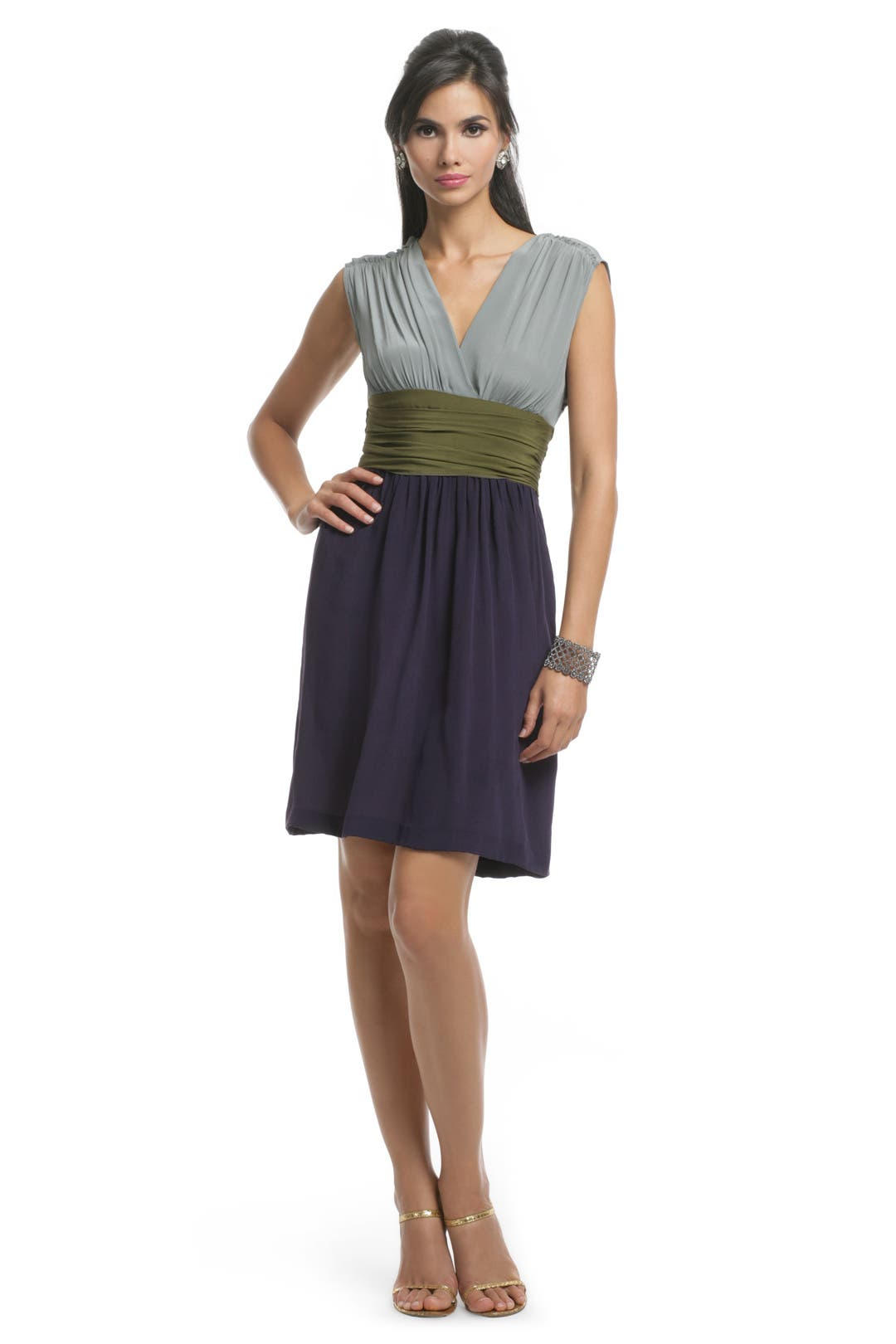 Colorblock Sash Dress by Philosophy