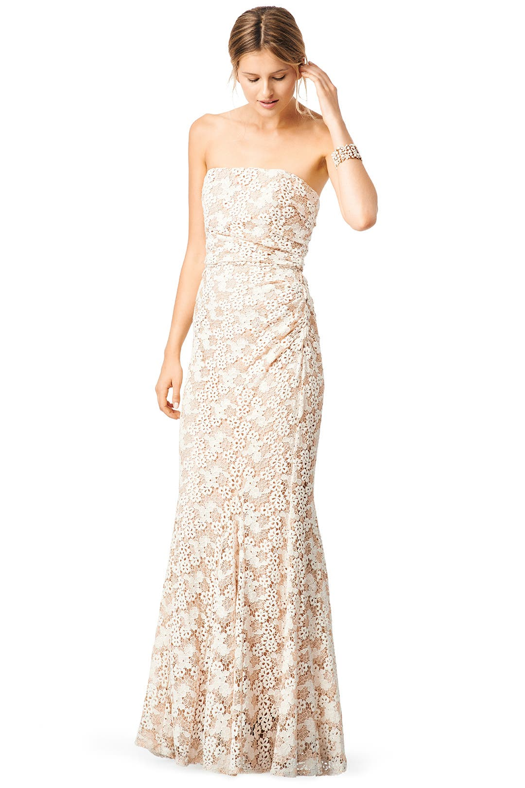 Ivory Dianthus Gown by Badgley Mischka