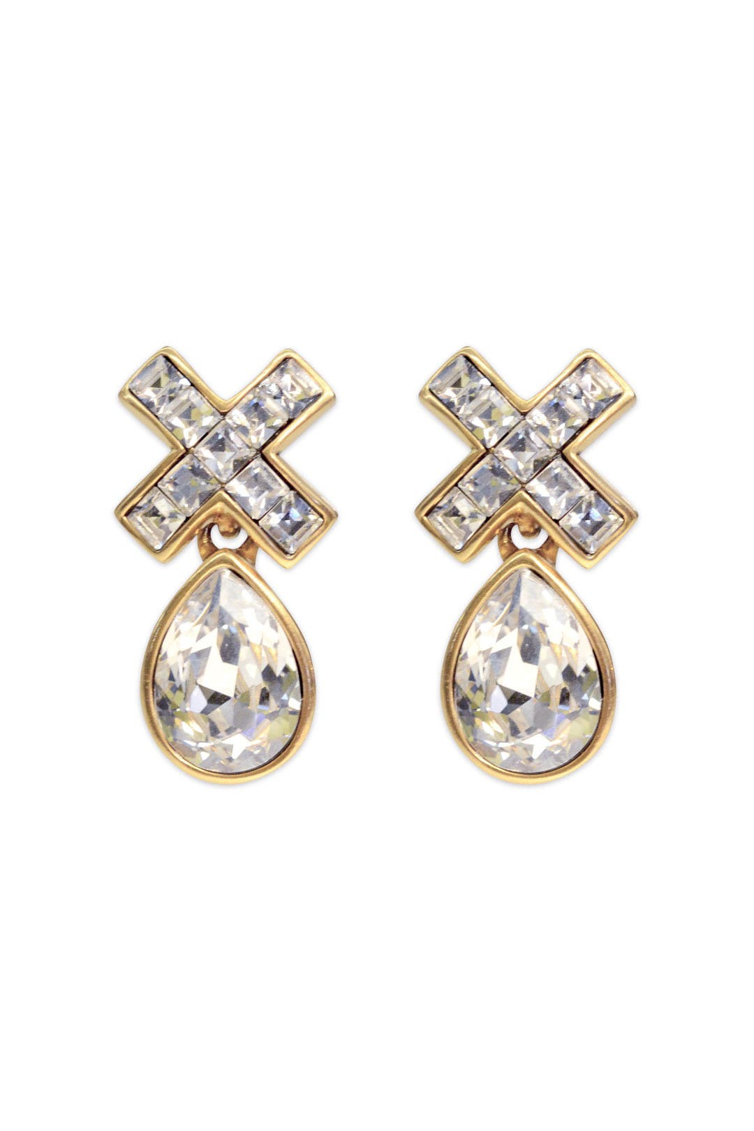 Crystal Marks the Spot Earring by Oscar de la Renta