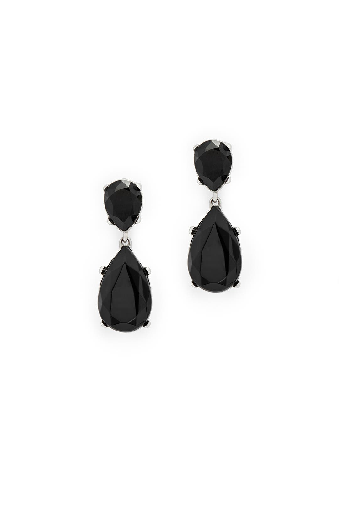 Jet Drop Earrings by Kenneth Jay Lane