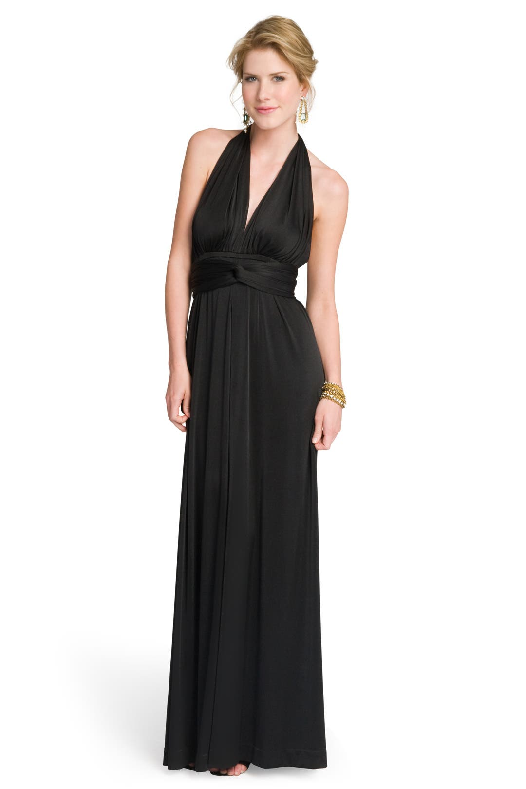 Classic Jet Halter Gown by Halston Heritage