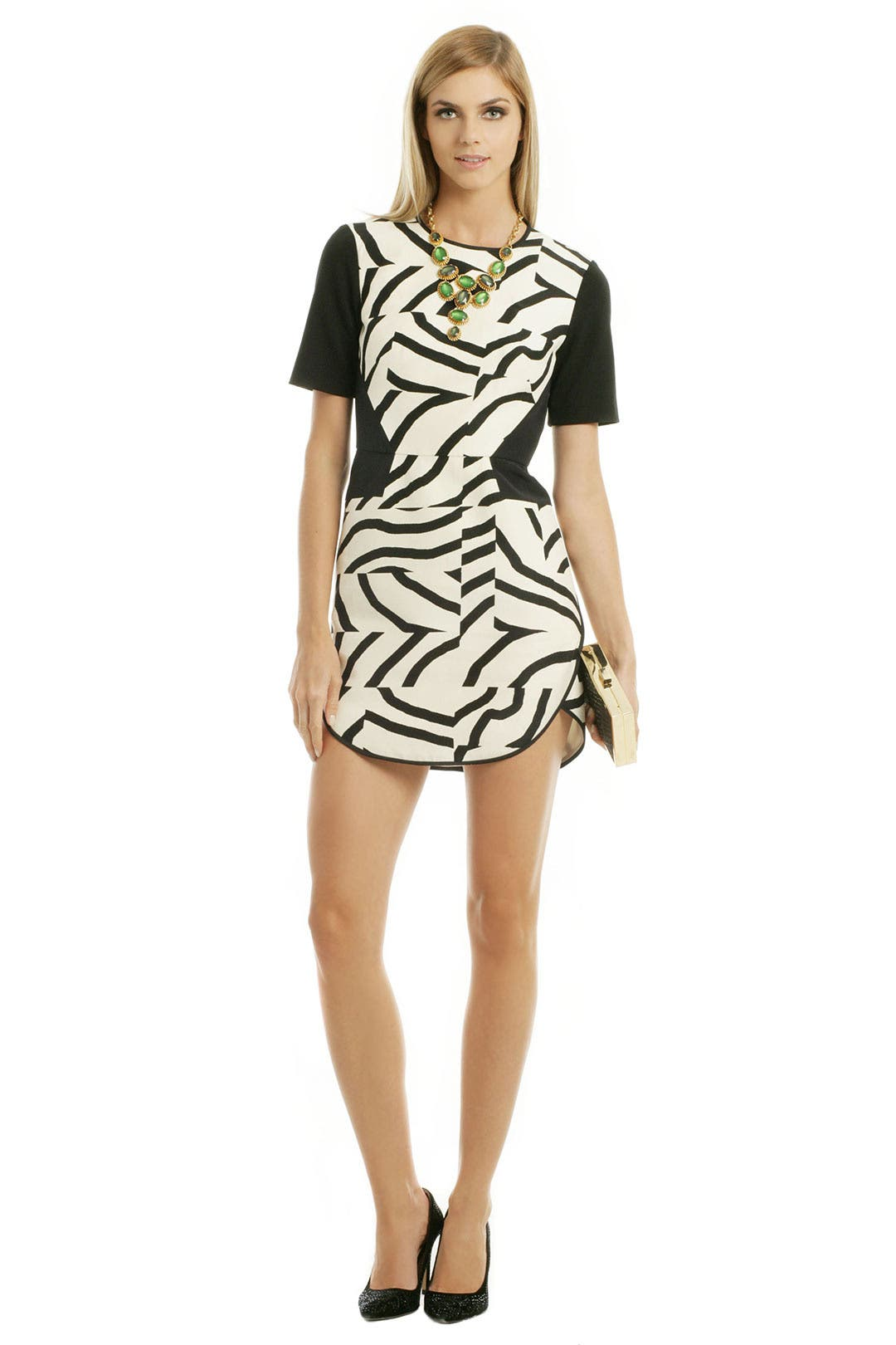 Zebra Maze Dress by Tibi