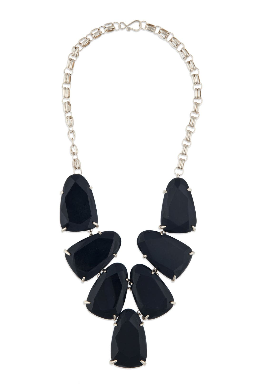 Black Stone Bib Necklace by Kendra Scott