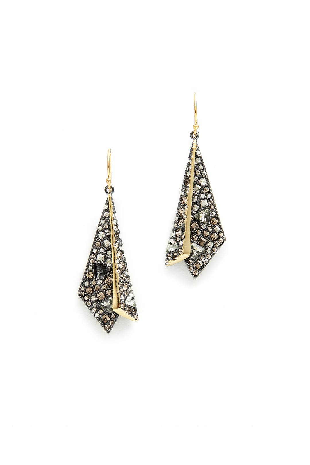 Crystal Encrusted Layered Origami Earrings By Alexis Bittar For $35  Rent  The Runway