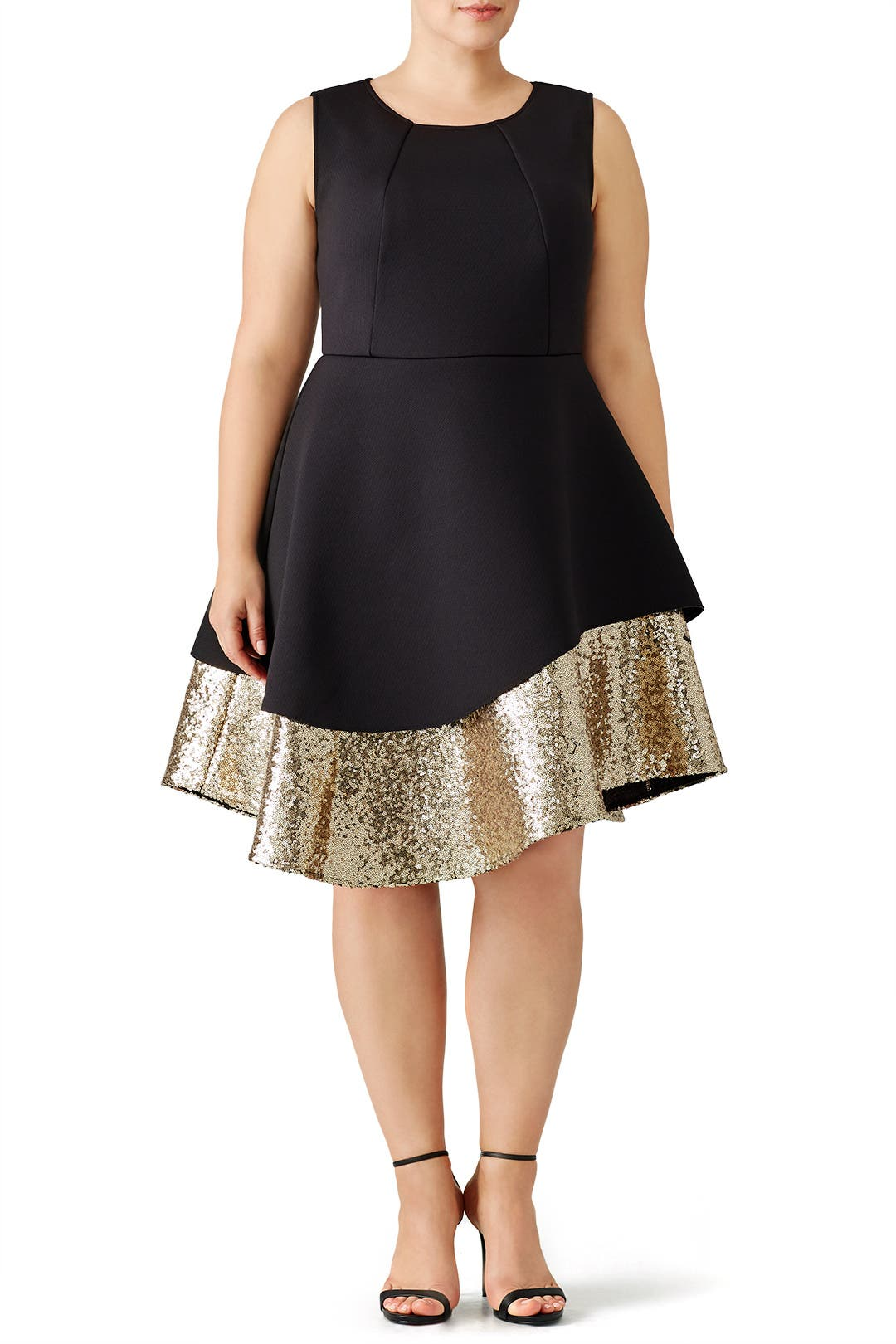Gold Sequin Pique Dress By Eloquii For 30 Rent The Runway