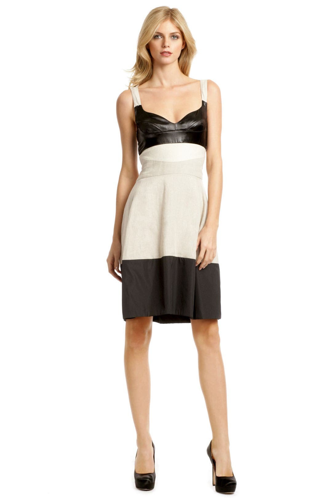 Naturale Linen Colorblock Dress by Narciso Rodriguez
