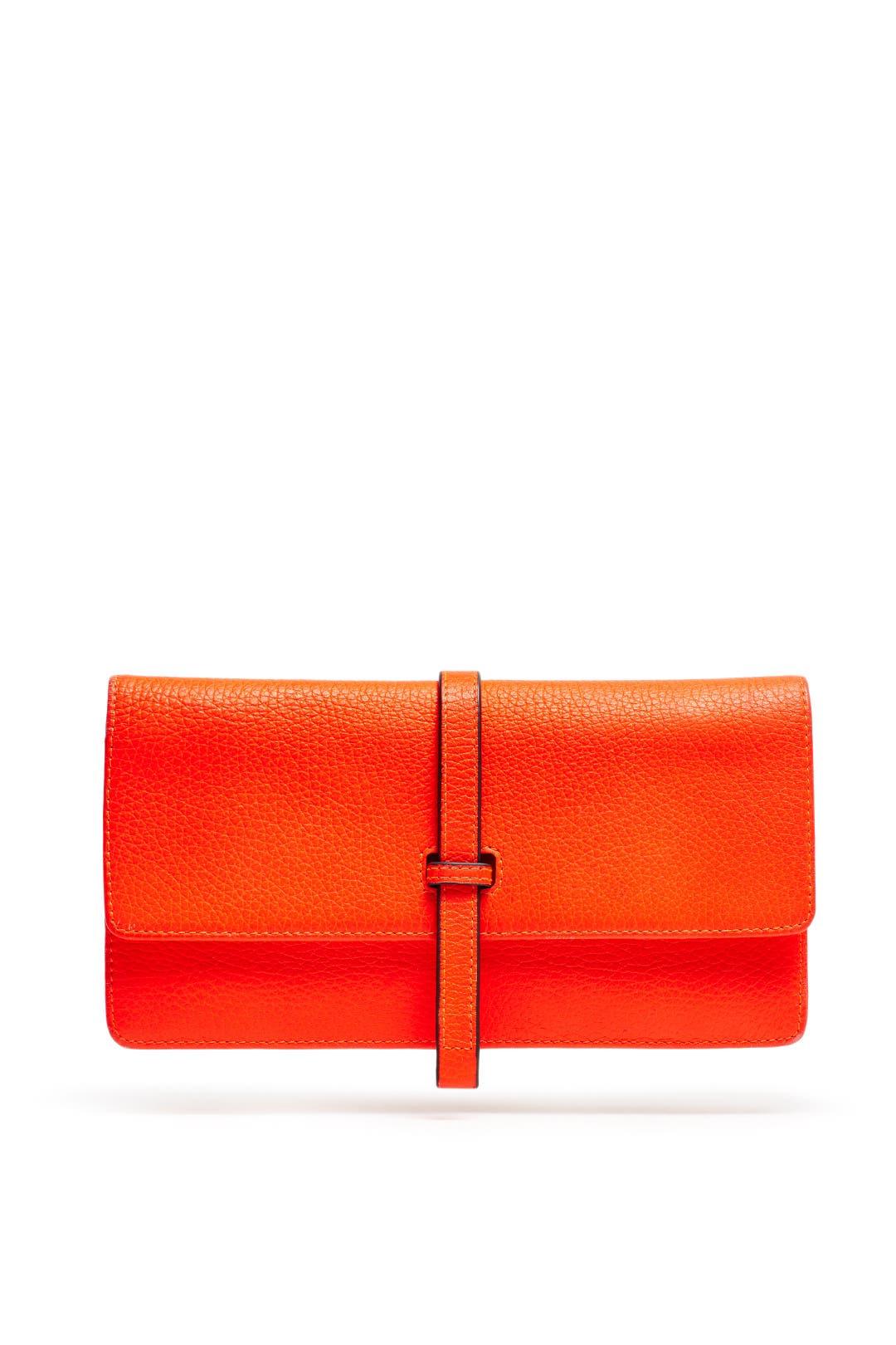 Tangerine Leyla Clutch by Annabel Ingall