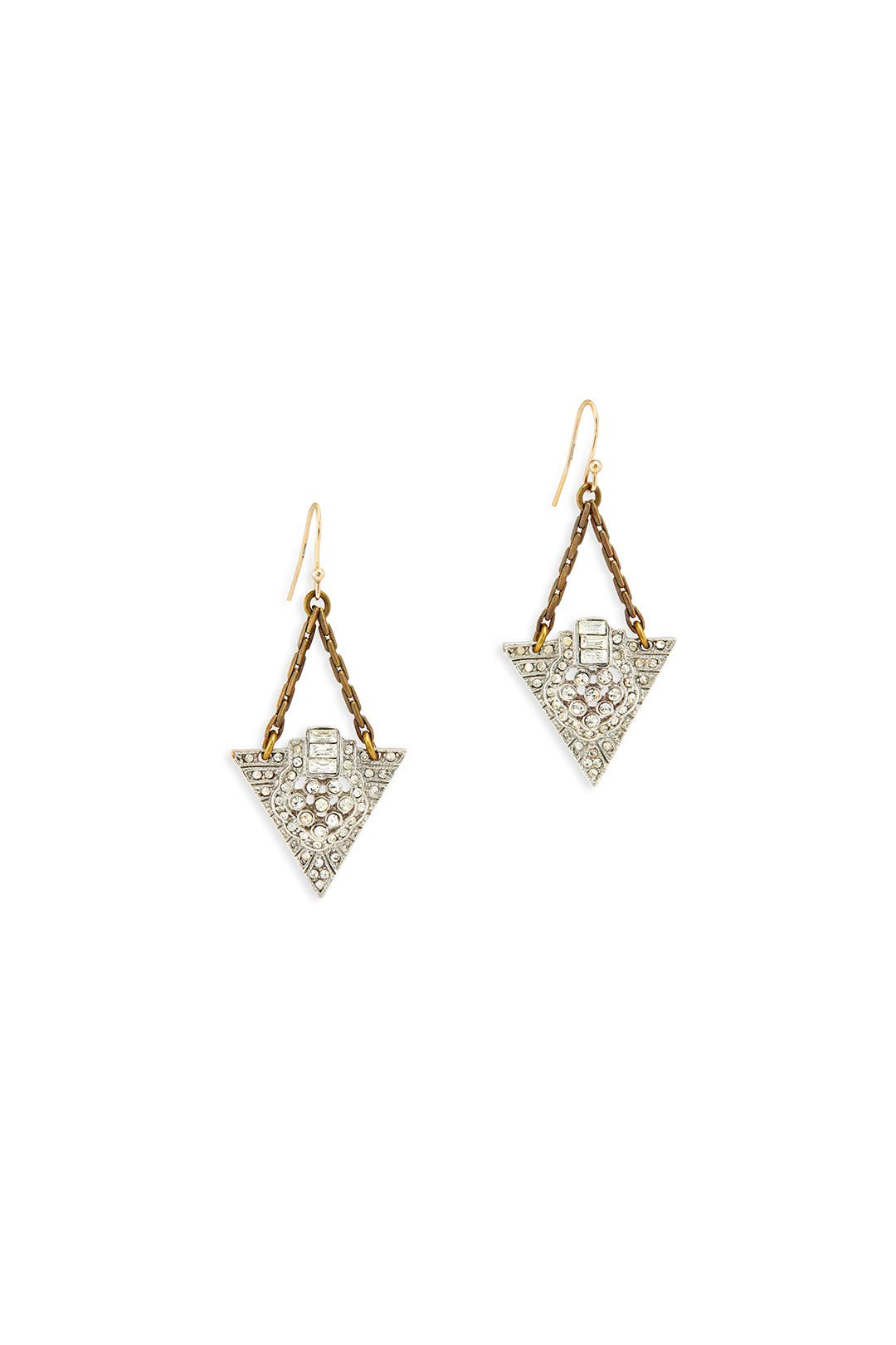 Crystal Cruz Pyramid Earrings by Lulu Frost