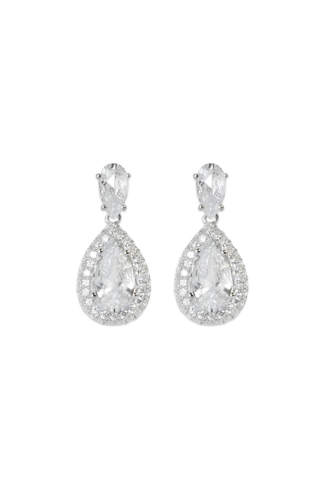 Crystal Waters Drop Earrings by Crislu