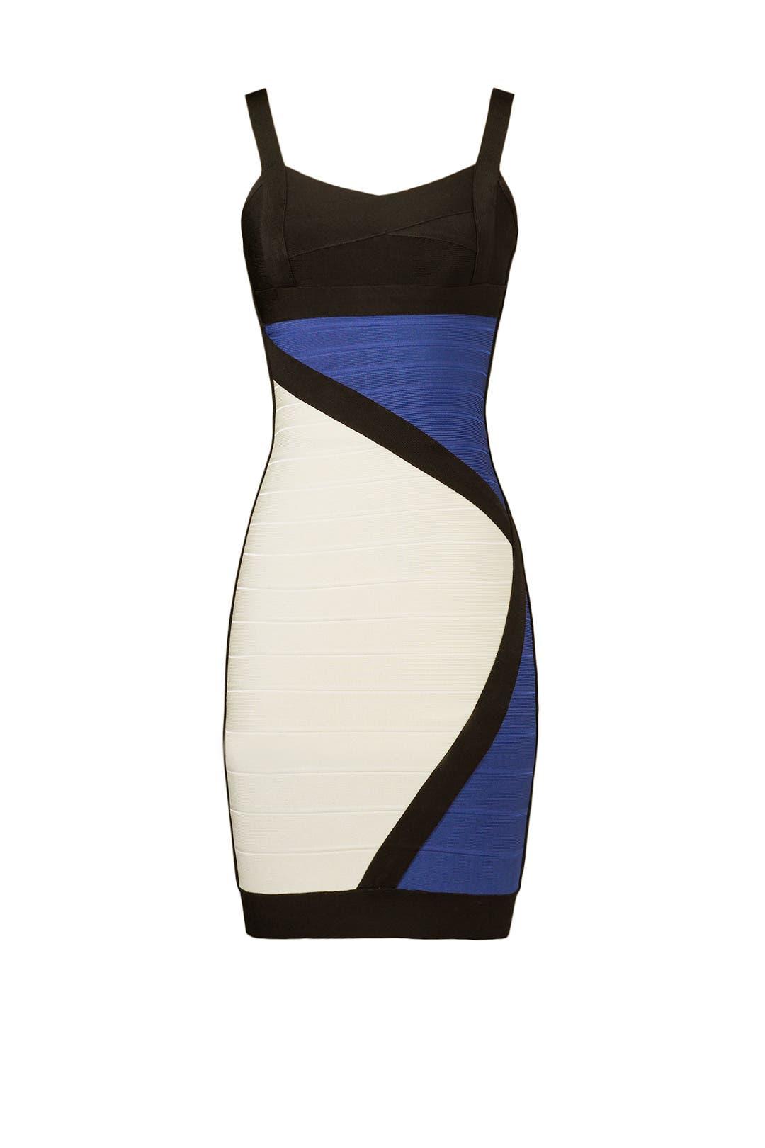 Color Block Party Dress by Hervé Léger