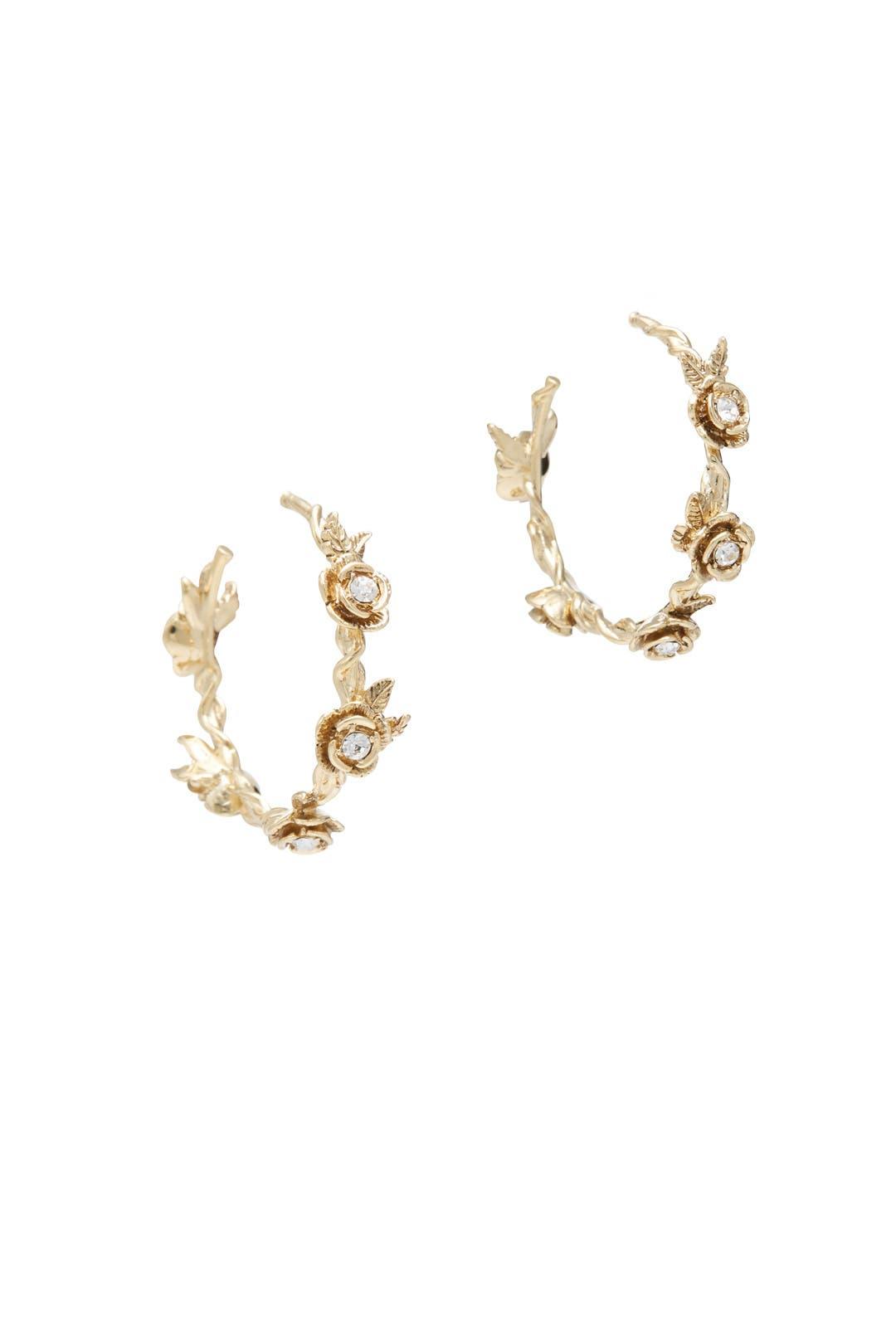 Boucles D'oreilles Florales Pendentif Goutte - Marchesa Blanc kaHuJjzf