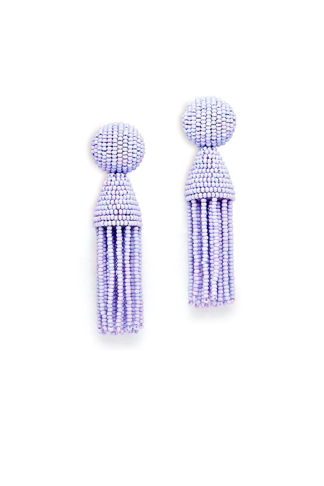 Lilac Short Tel Earrings By Oscar De La A For 50 The Runway