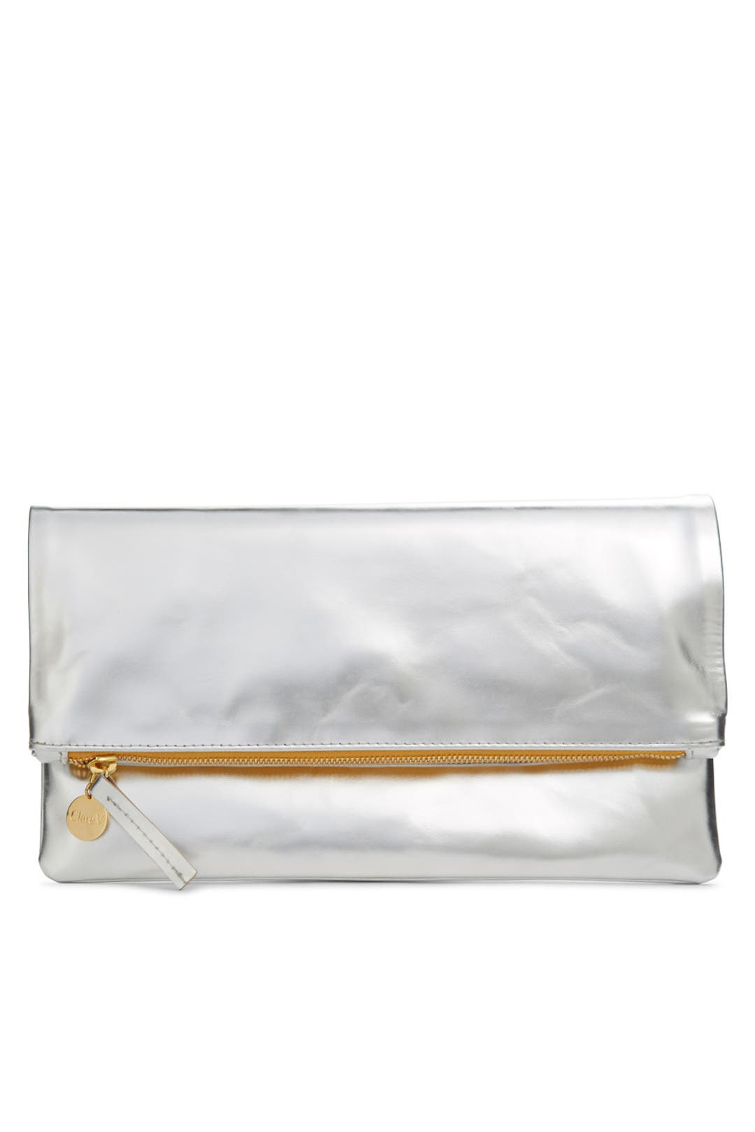 Mirror Foldover Clutch by Clare V.
