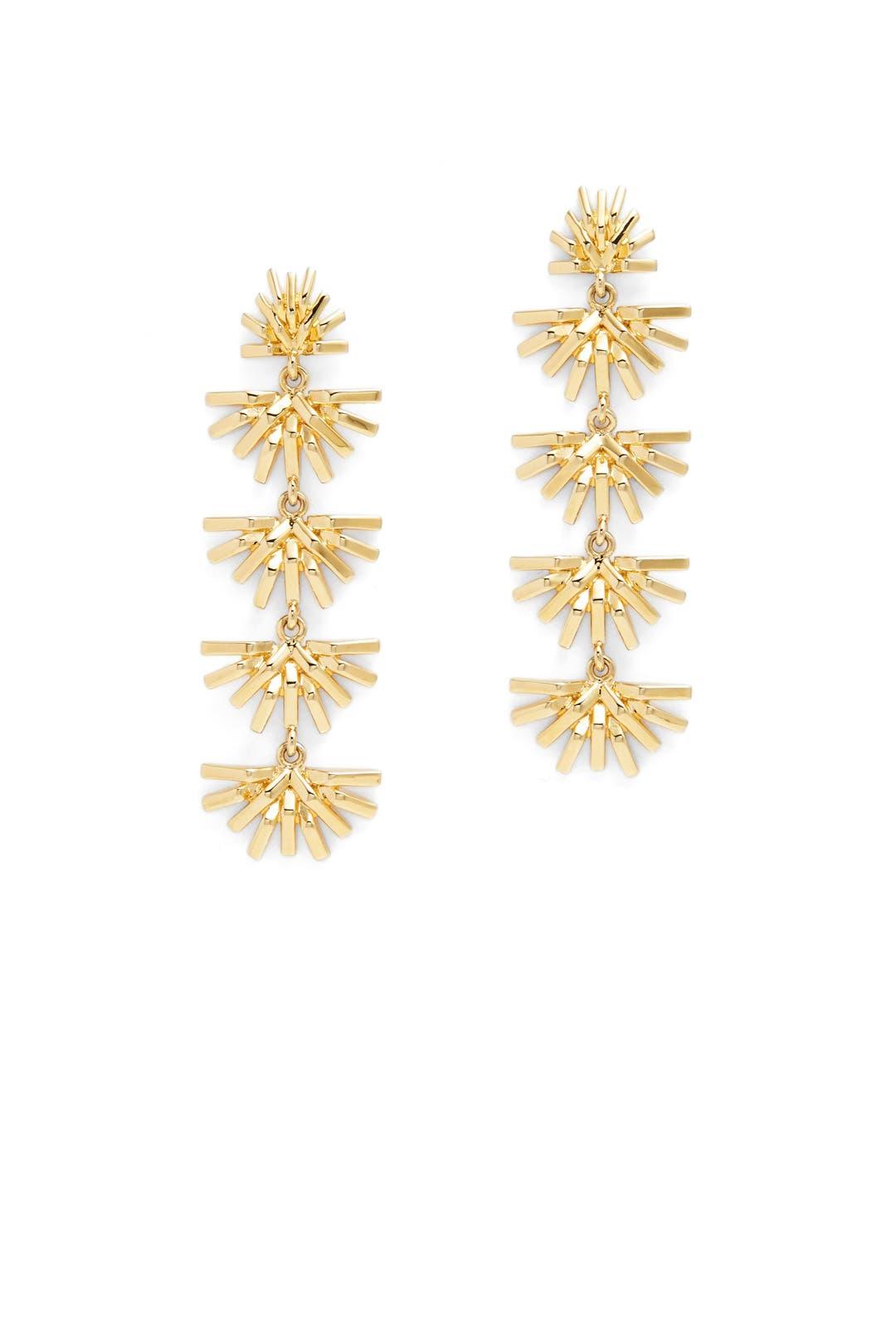 Lele Sadoughi Palm Grass Linear Earrings