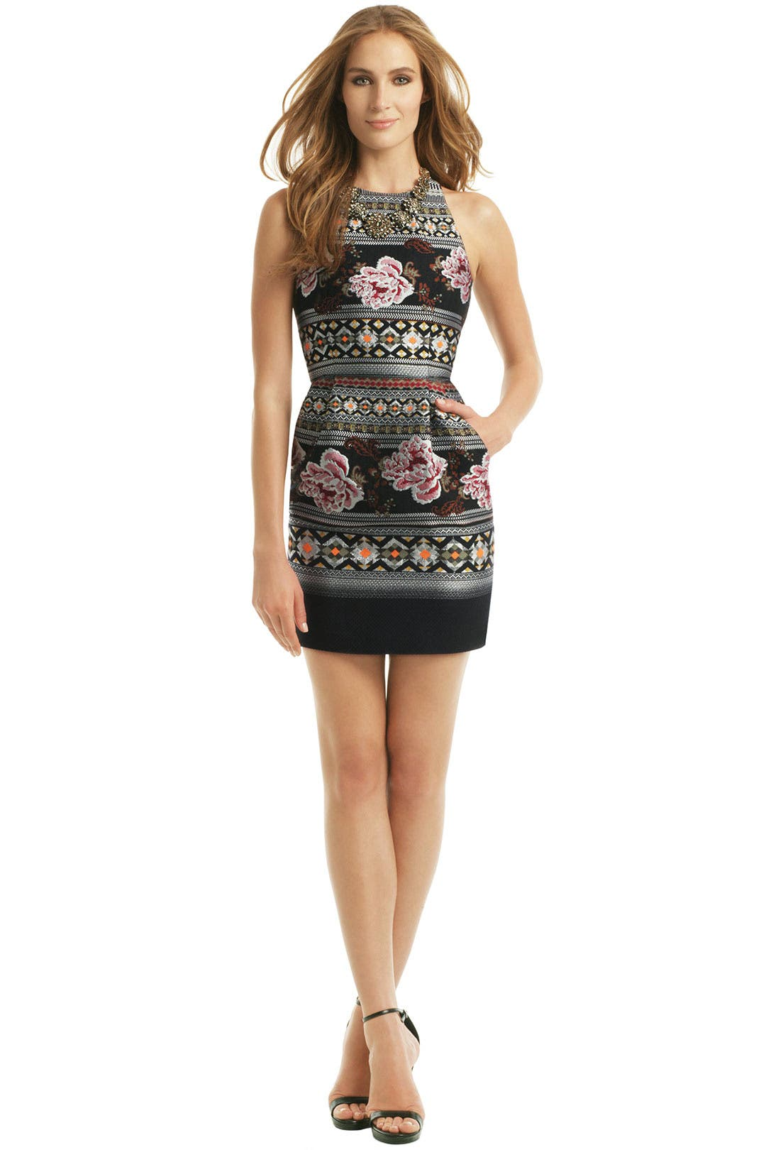 Floral Folk Weave Dress by Matthew Williamson