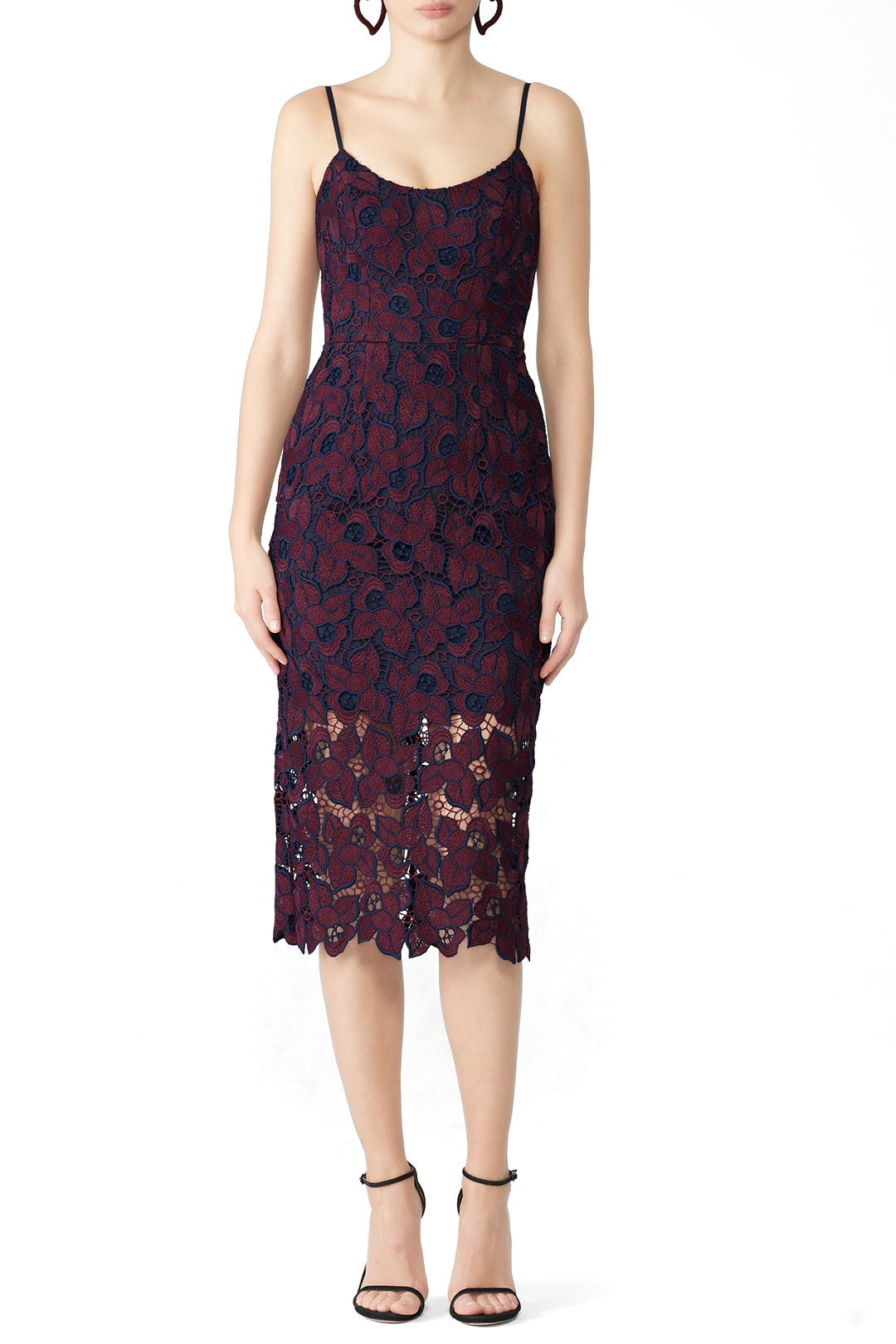 94eaad19 Plum Lace Aurora Dress by Dress The Population for $30 - $40 | Rent the  Runway