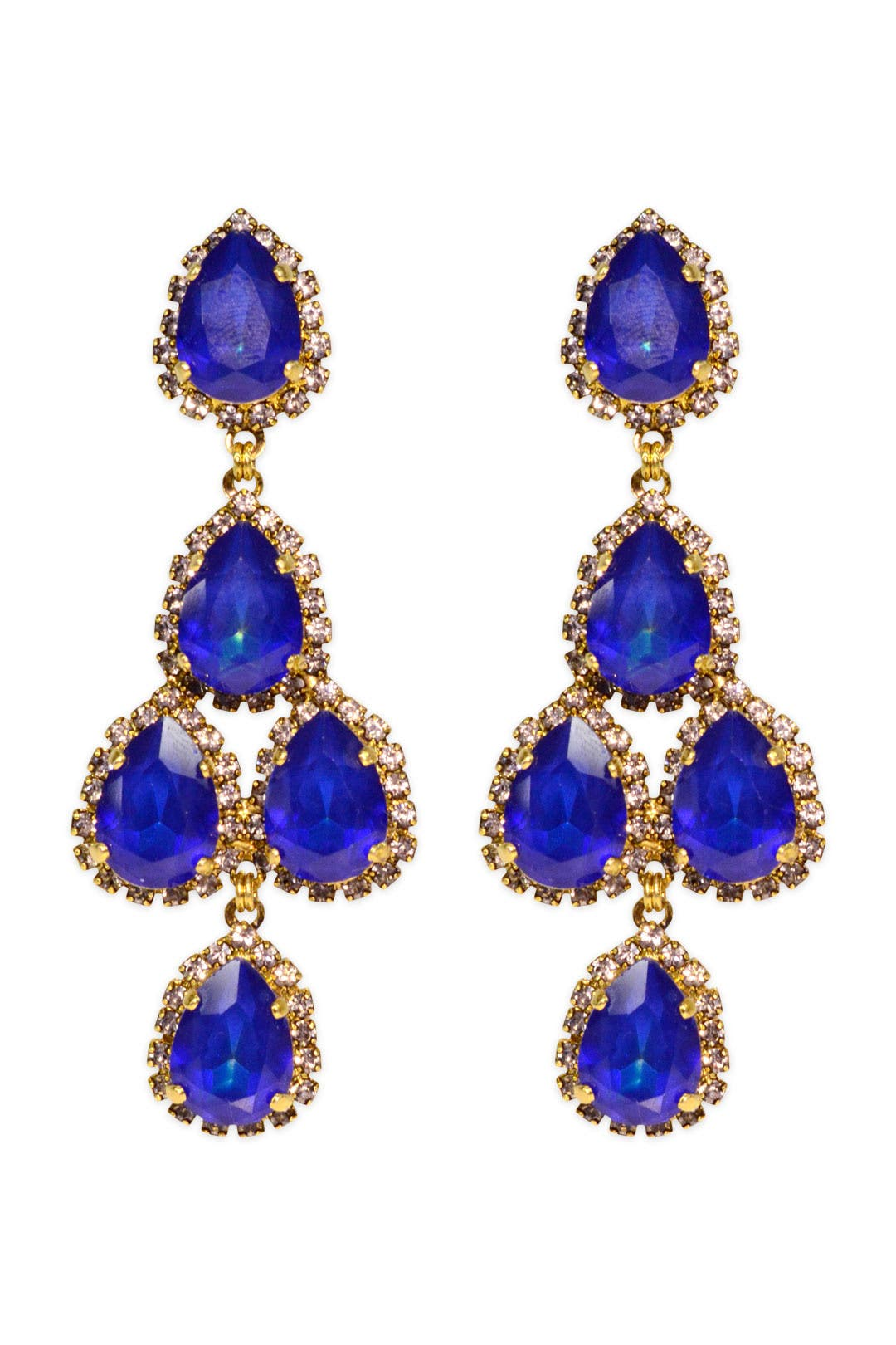 Royal Blue Duchess Earring by Erickson Beamon