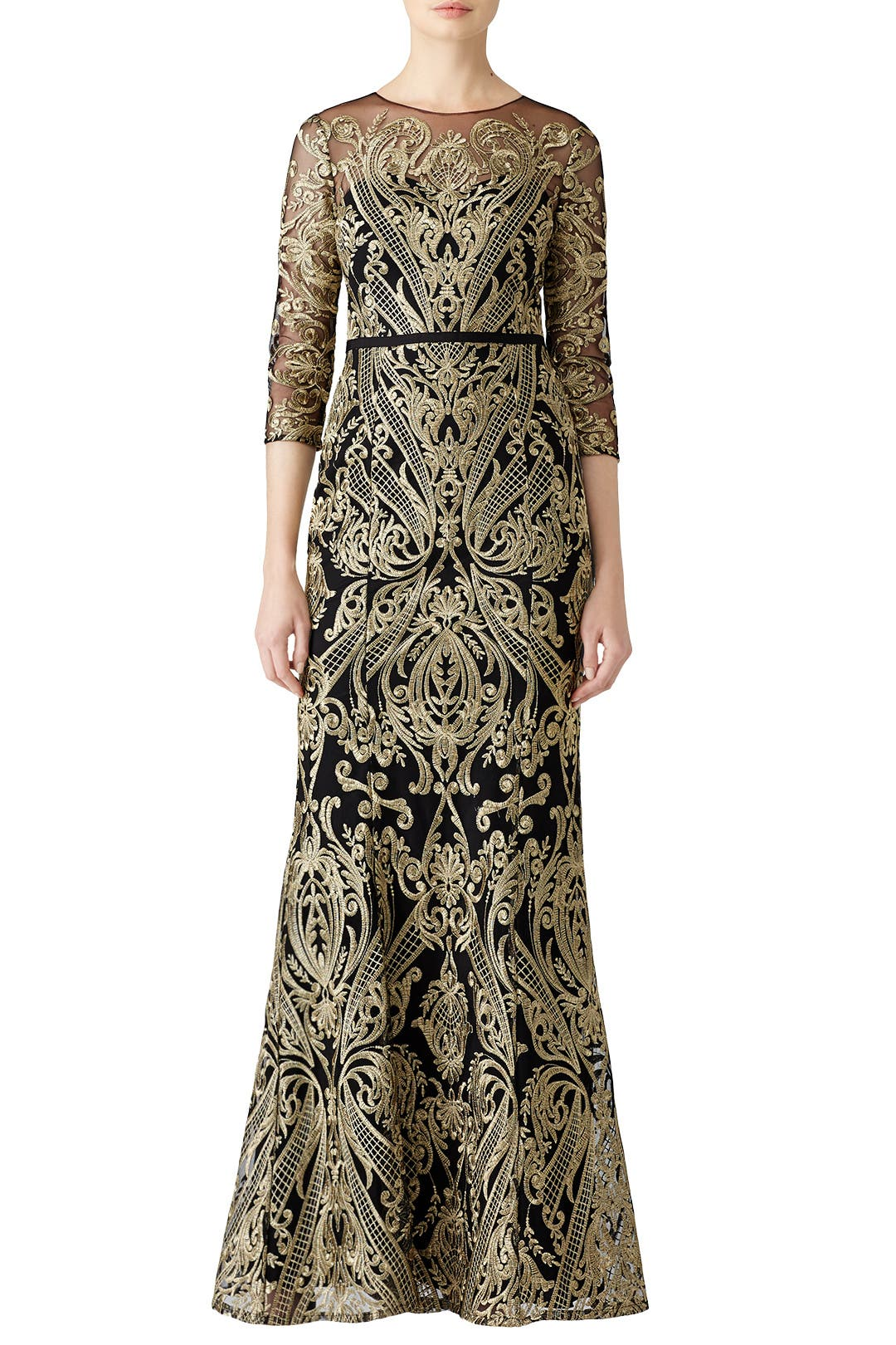 dfc7a9432a01 Marchesa Notte. Read Reviews. Moises Embroidered Gown