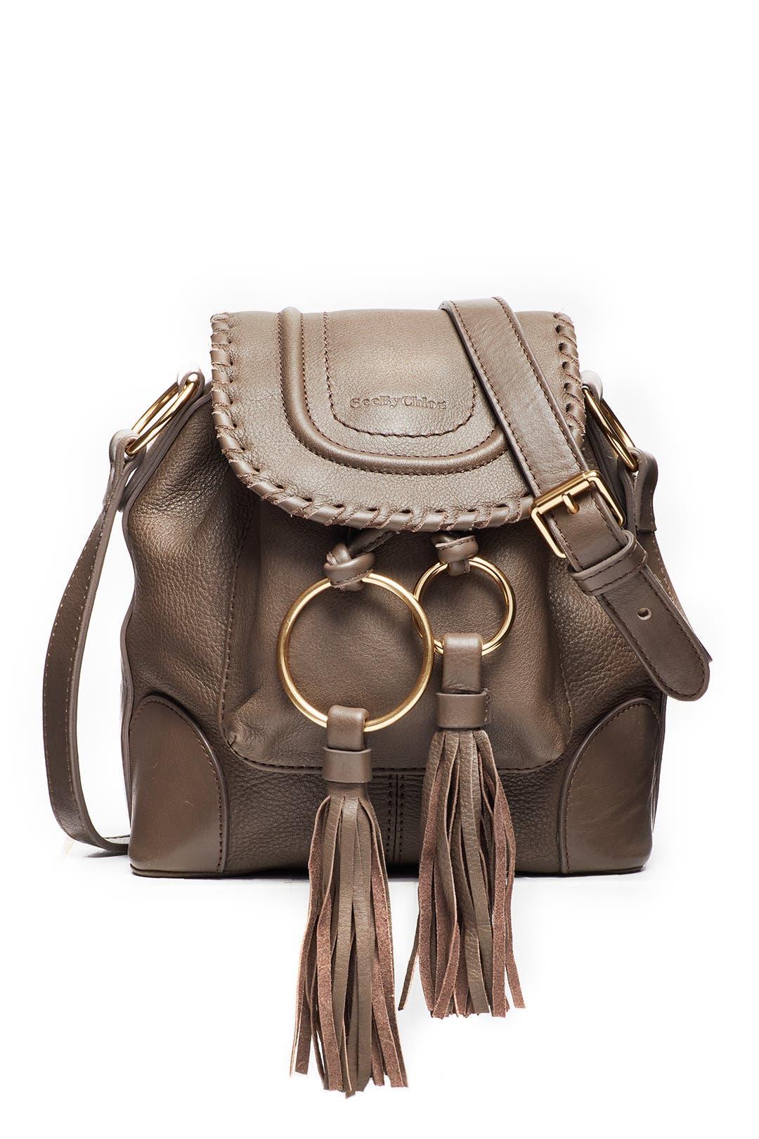 d6ddfaa883 See by Chloe Accessories Taupe Tassel Shoulder Bag