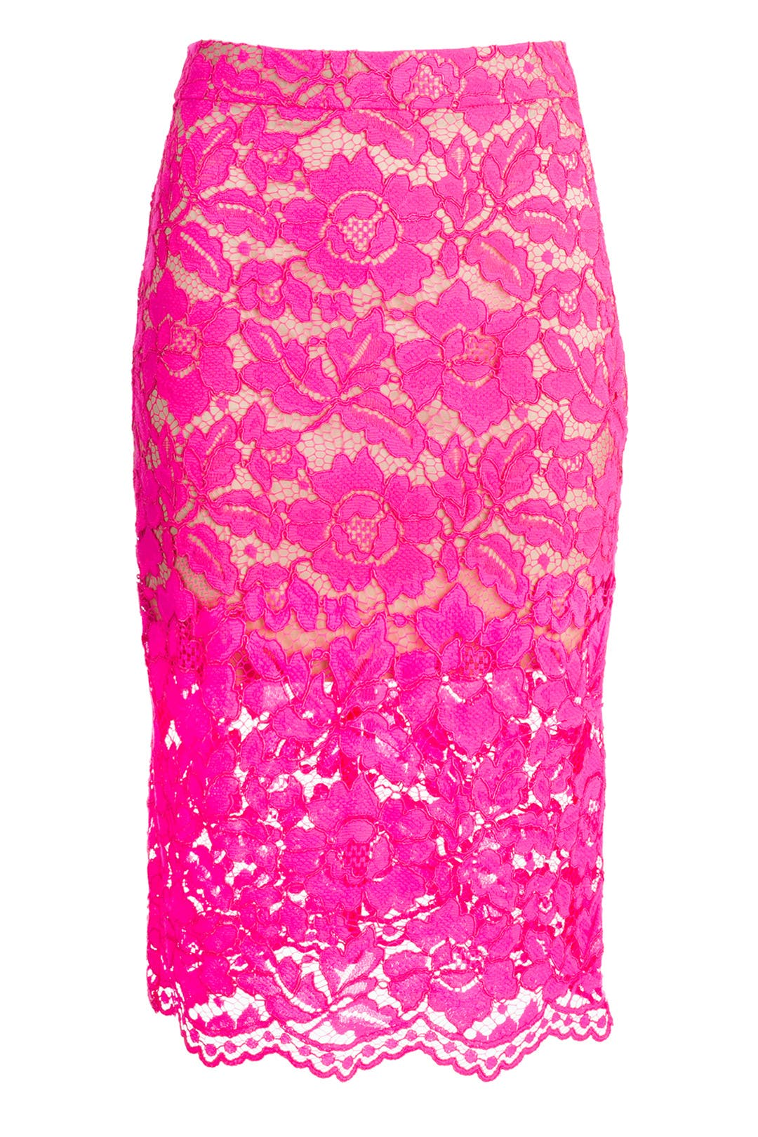 Bretta Pink Lace Skirt by Trina Turk for $122 | Rent the ...