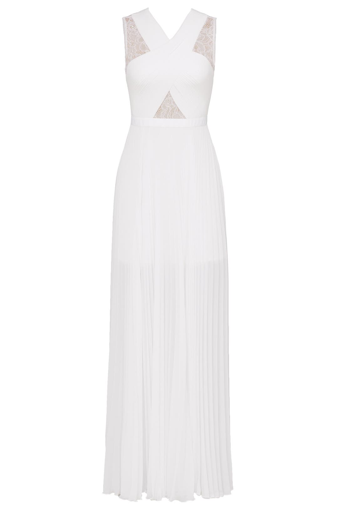 White Caia Gown by BCBGMAXAZRIA for $141 | Rent the Runway