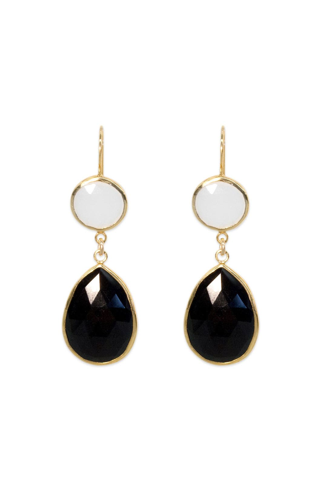 Half Moon Double Drop Earrings by Margaret Elizabeth