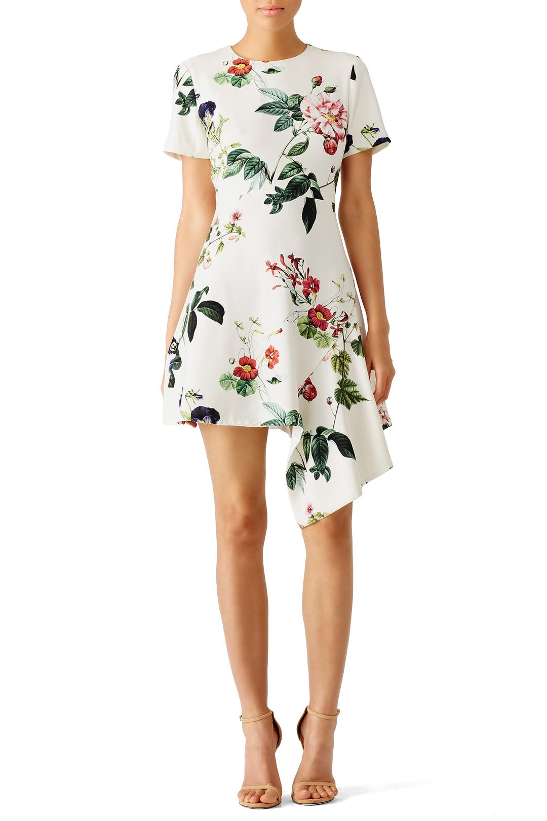 Garden Floral Asymmetrical Dress by STYLESTALKER for $30 - $35 ...