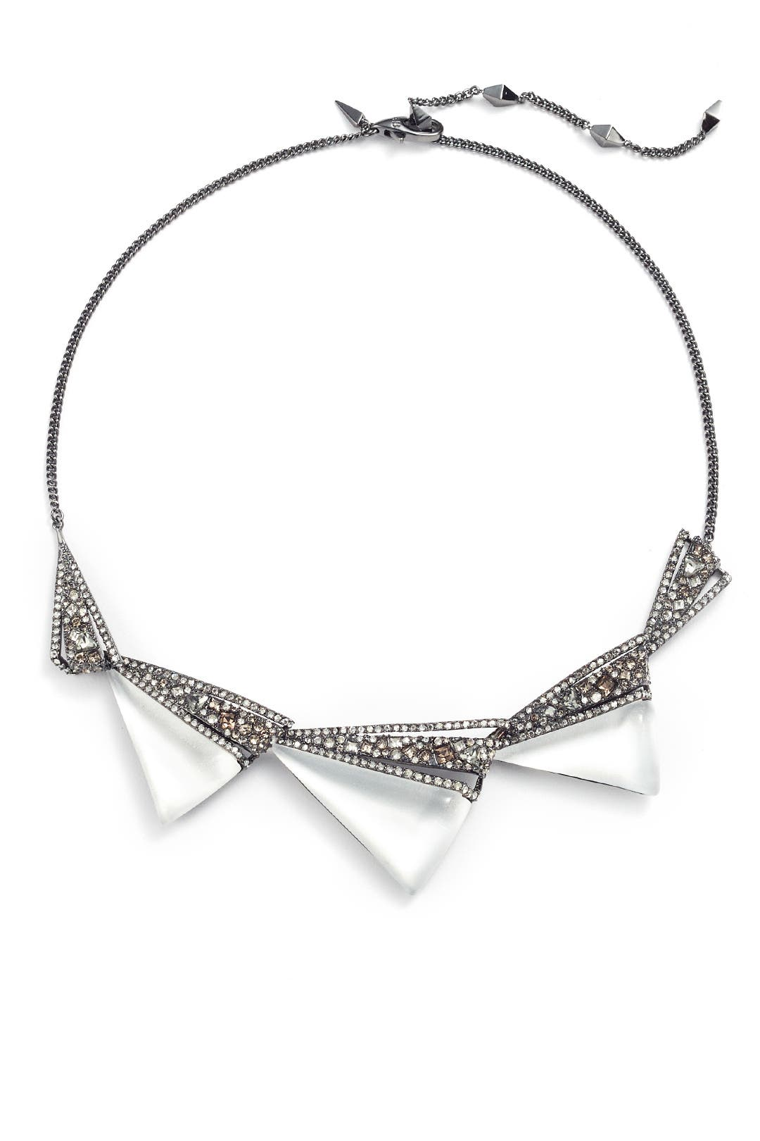 Alexis Bittar Crystal Origami Bib Necklace