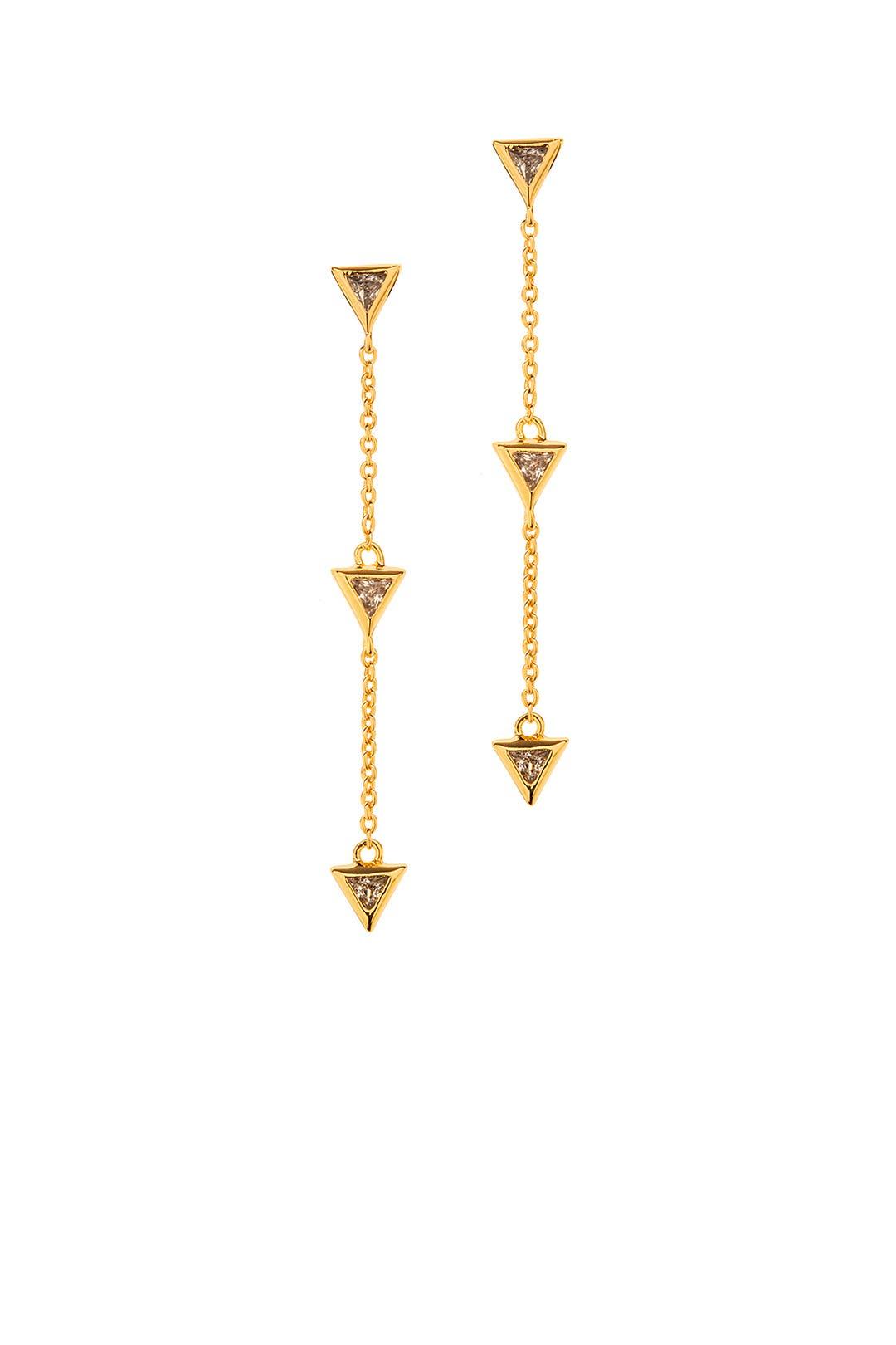 Vivienne Drop Earrings By Gorjana Accessories For $10  Rent The Runway