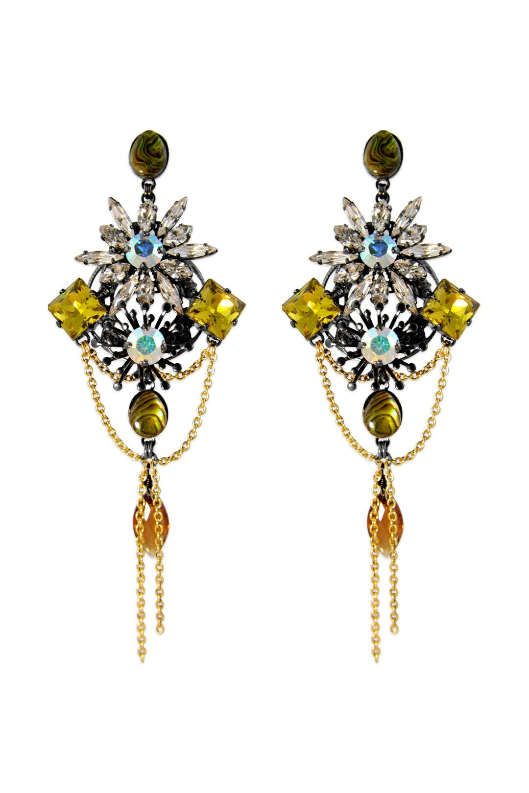 In the Mood For Love Earrings by Erickson Beamon