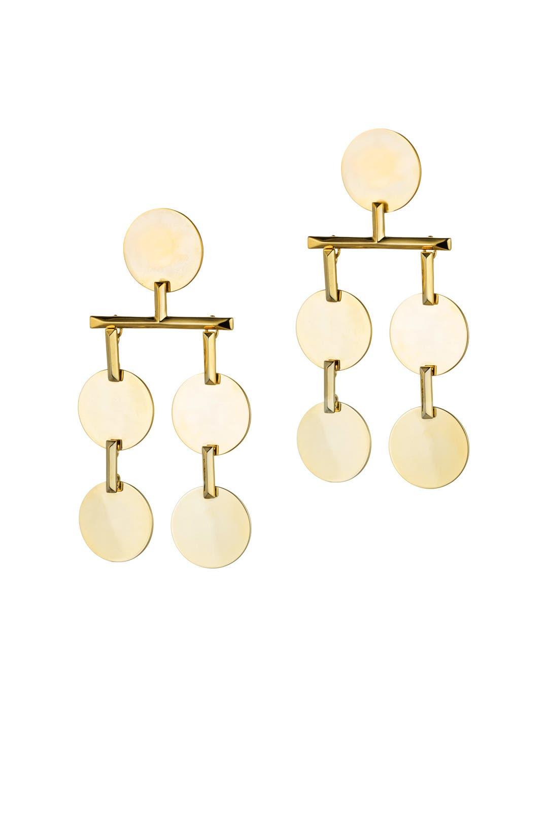 Gold Token Chandelier Earrings By Eddie Borgo For $35  Rent The Runway