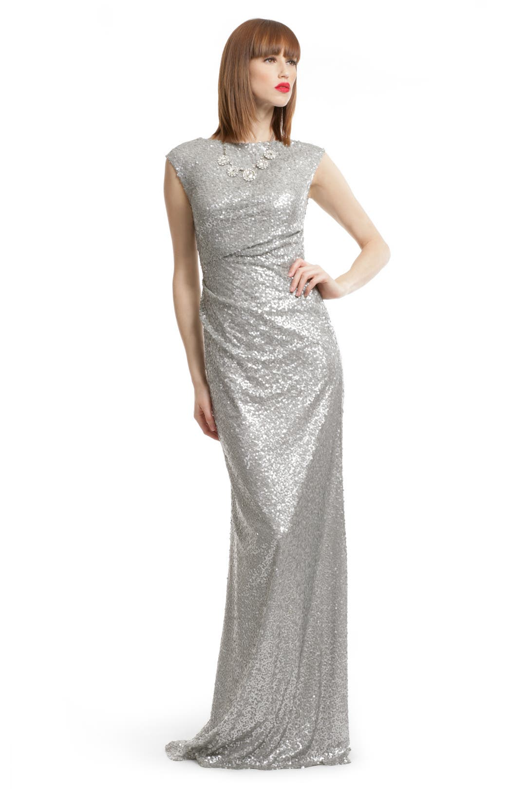 Silver Sequin Shine Gown by David Meister for $49 | Rent the Runway