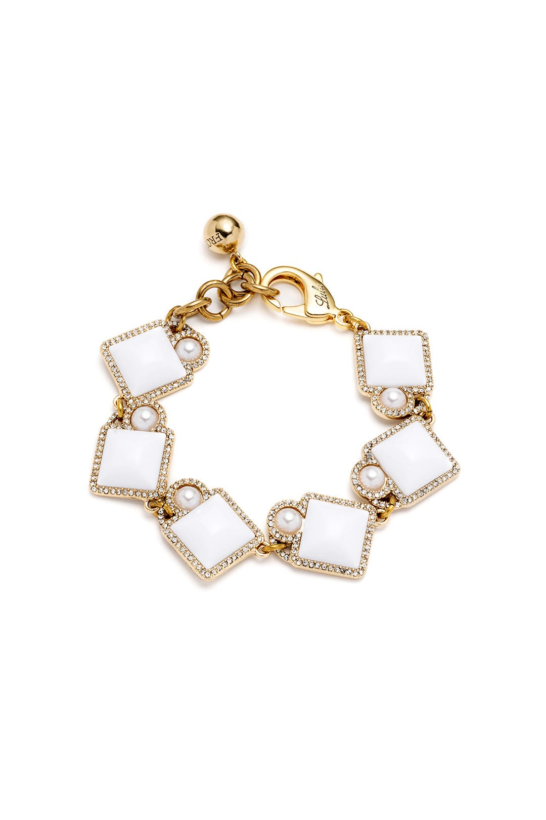 White Stone Mary Bracelet by Lulu Frost