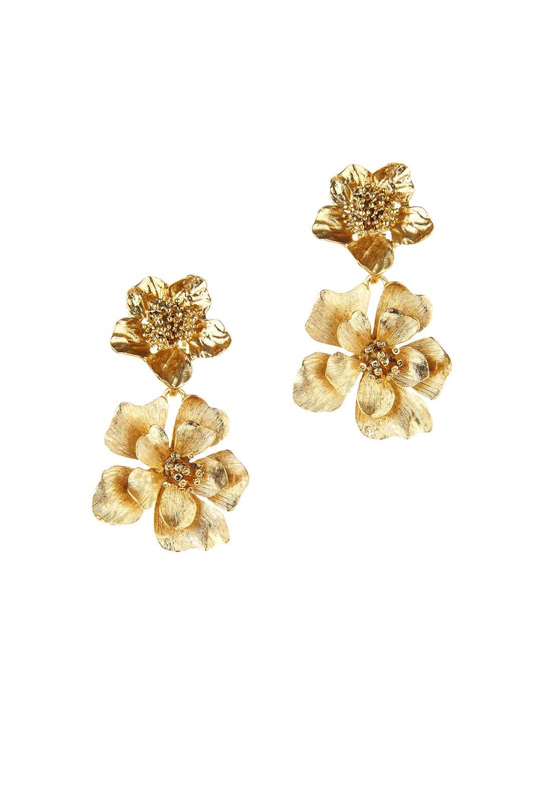 Gold-plated Earrings - one size Oscar De La Renta zUj75Tdgmn