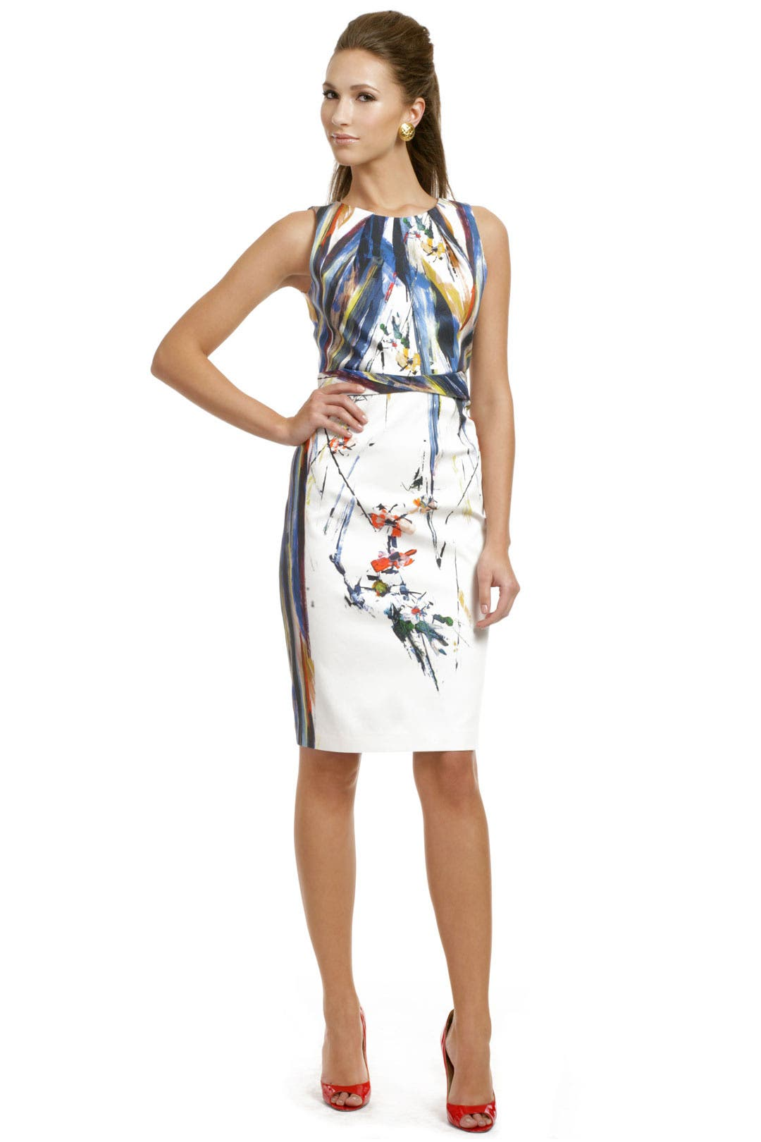 Colorful Canvas Sheath by Elie Tahari